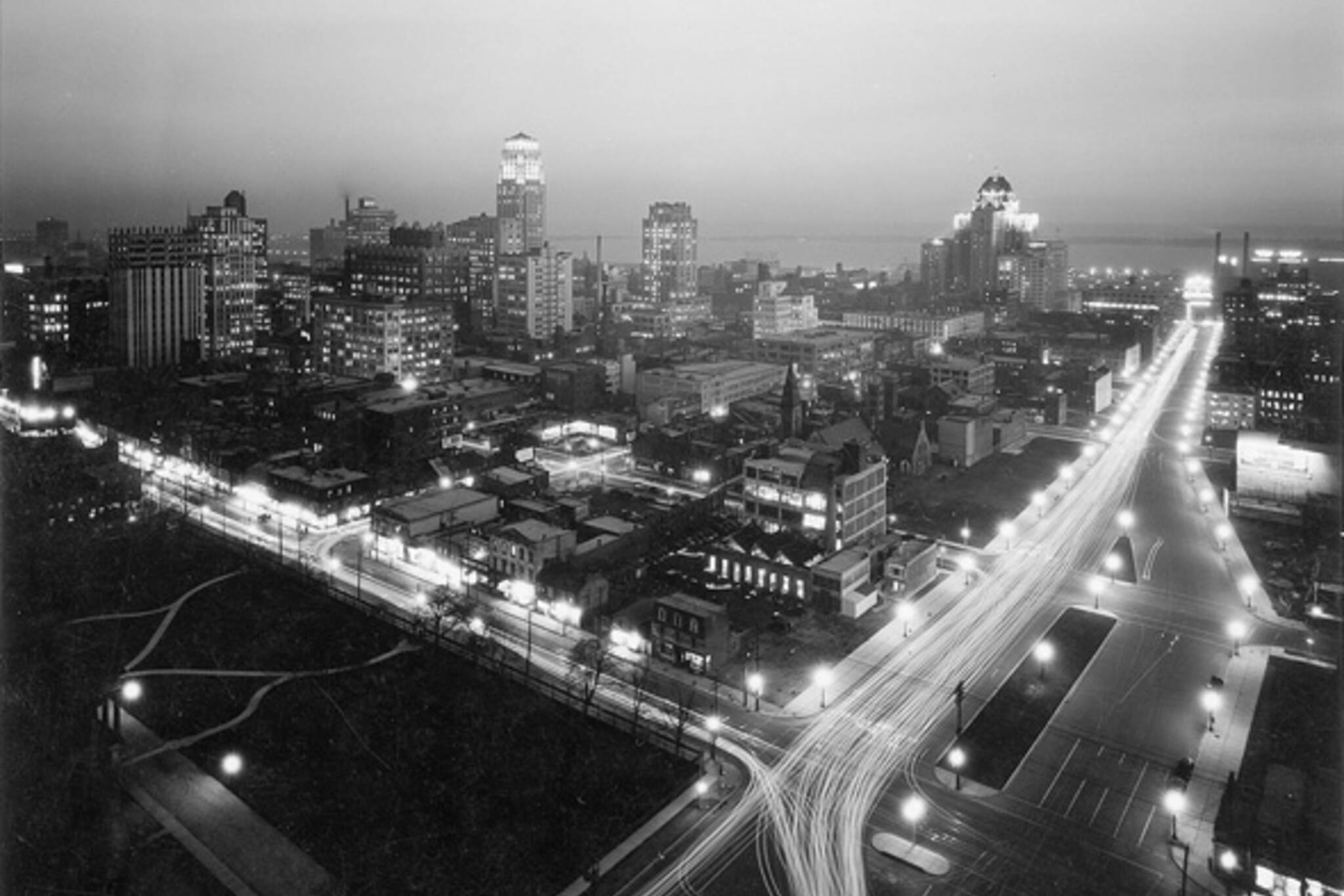 Vintage Toronto Night Photo