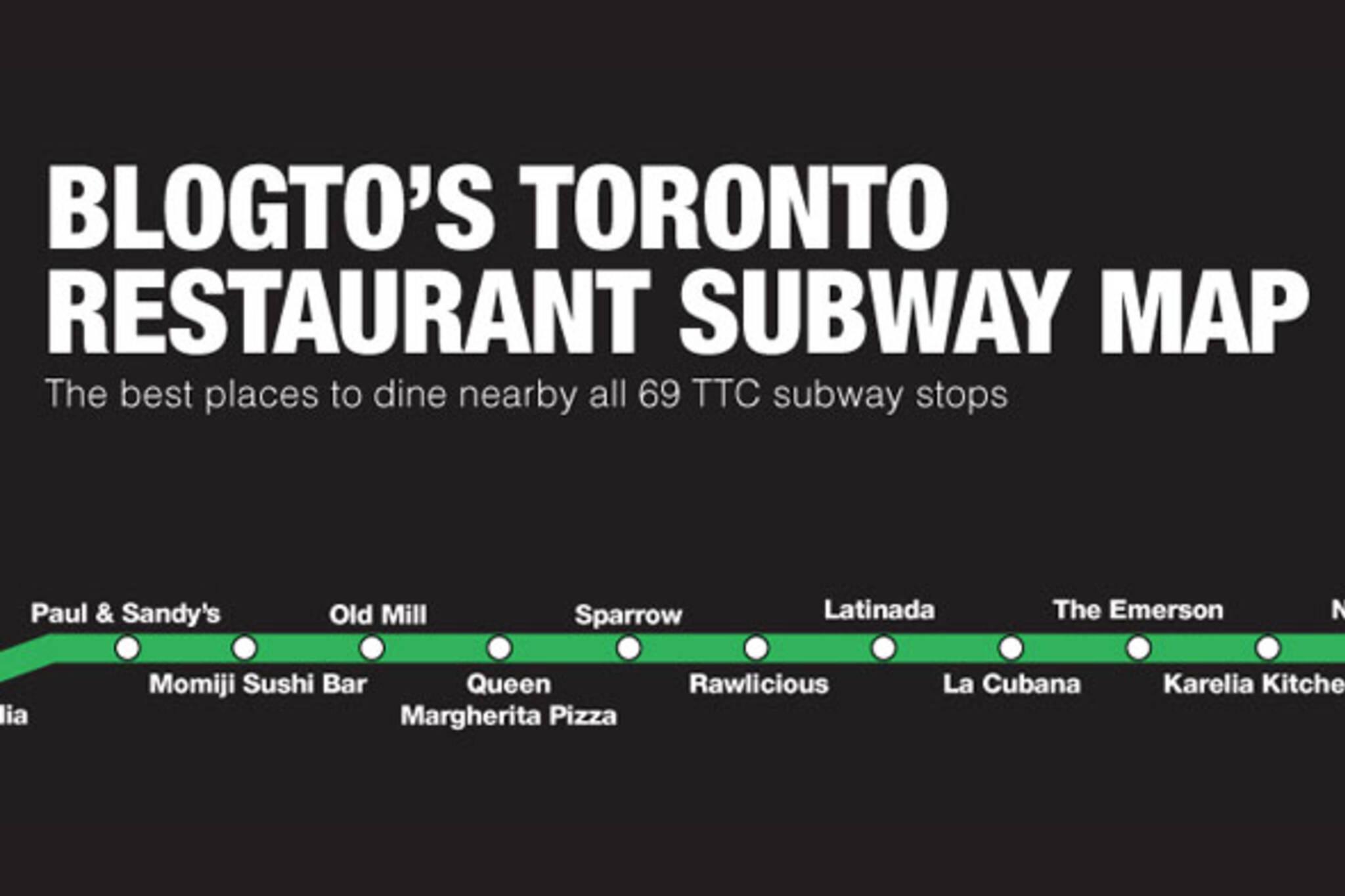 restaurants subway map