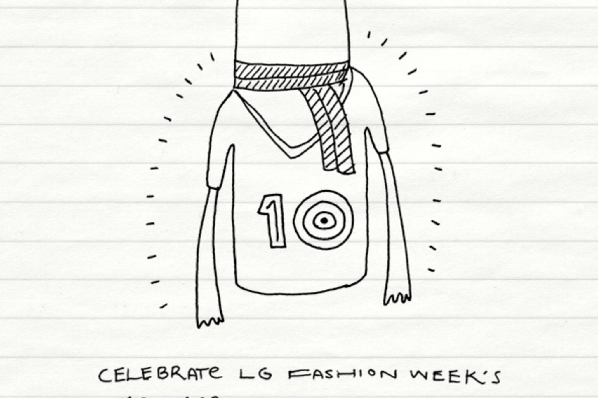noteTOself fashion week t shirt