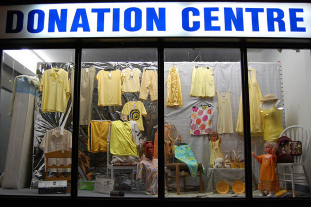 Clothing donation stores
