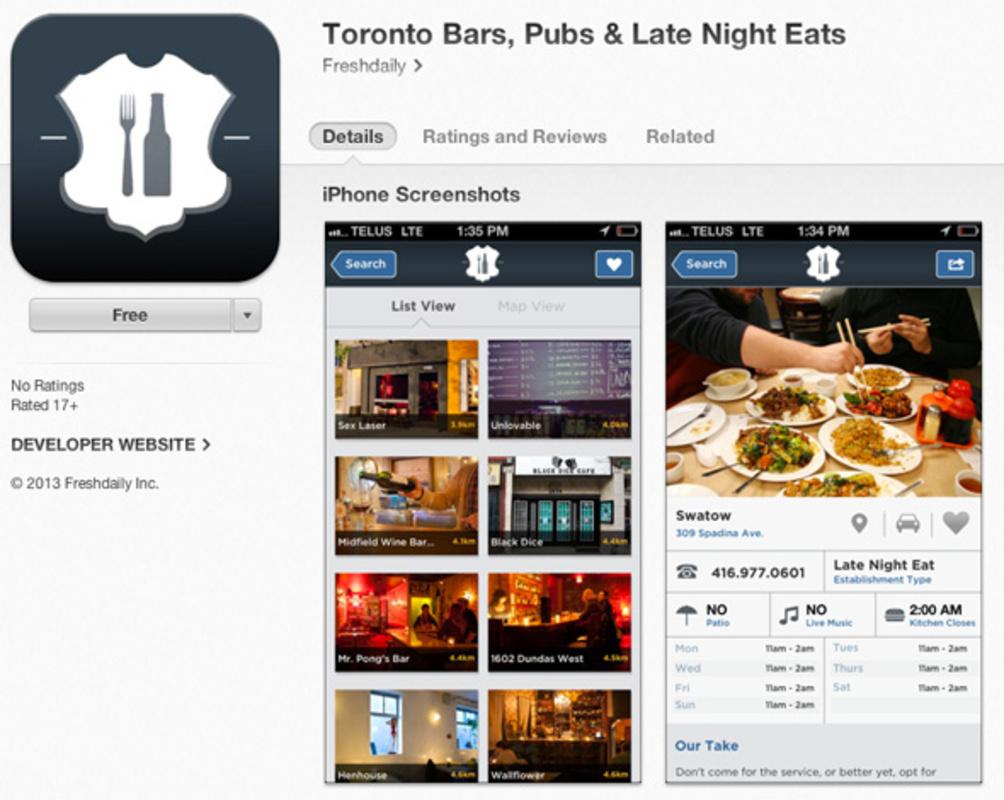 Late night eats Toronto
