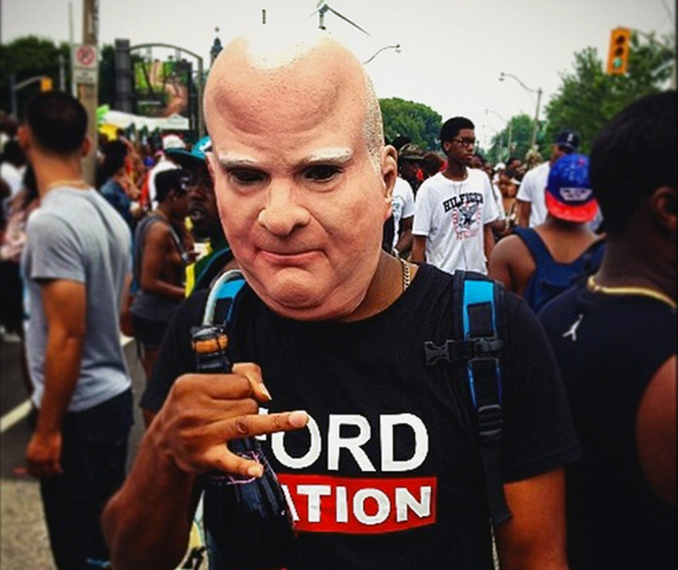 Rob Ford rubber mask