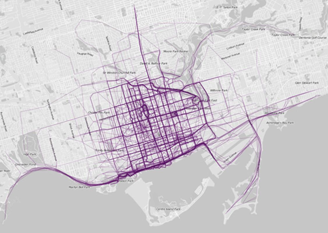 Toronto run map