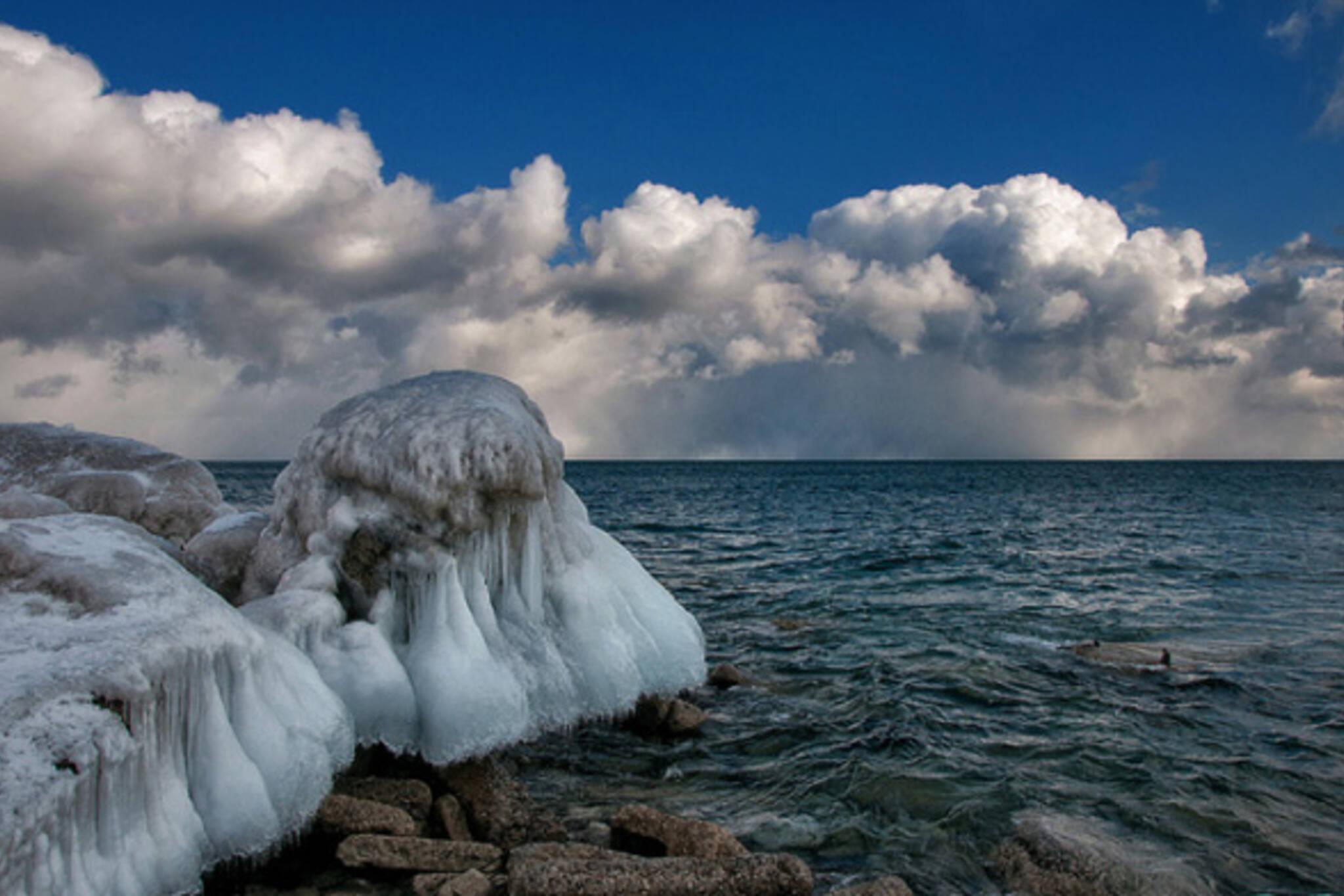 Snow Winter Lake Ontario