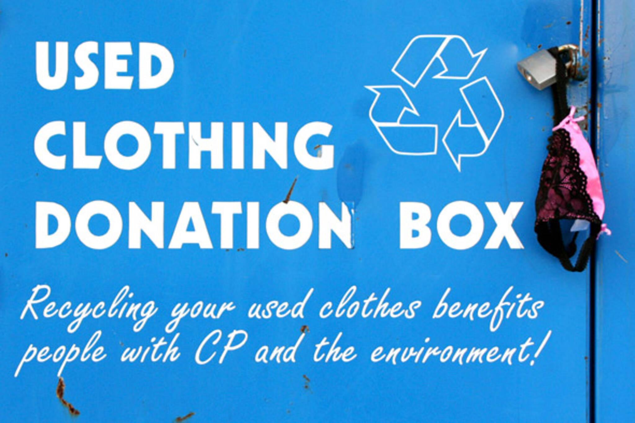 used clothing donation box toronto