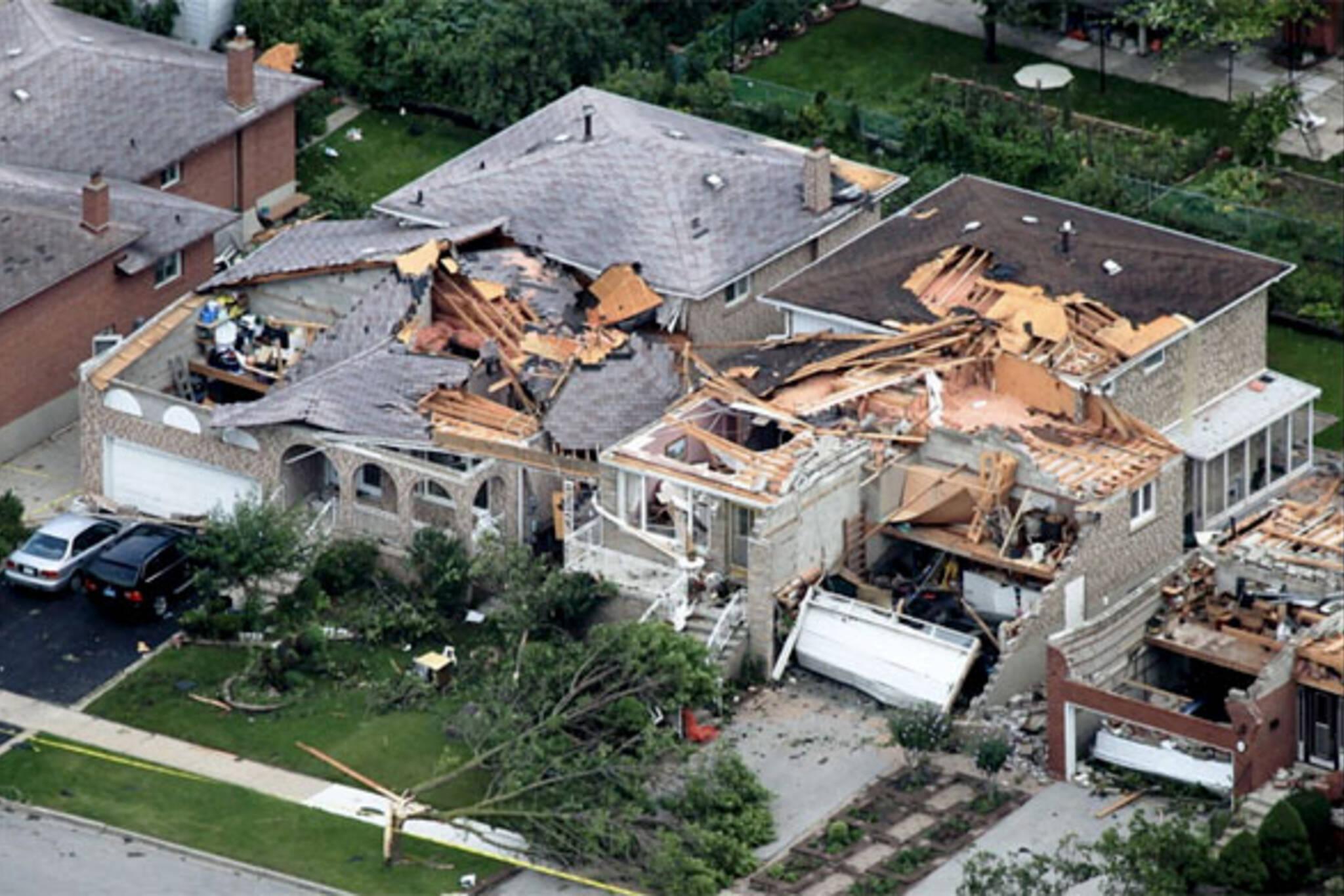 vaughan tornado photos damage