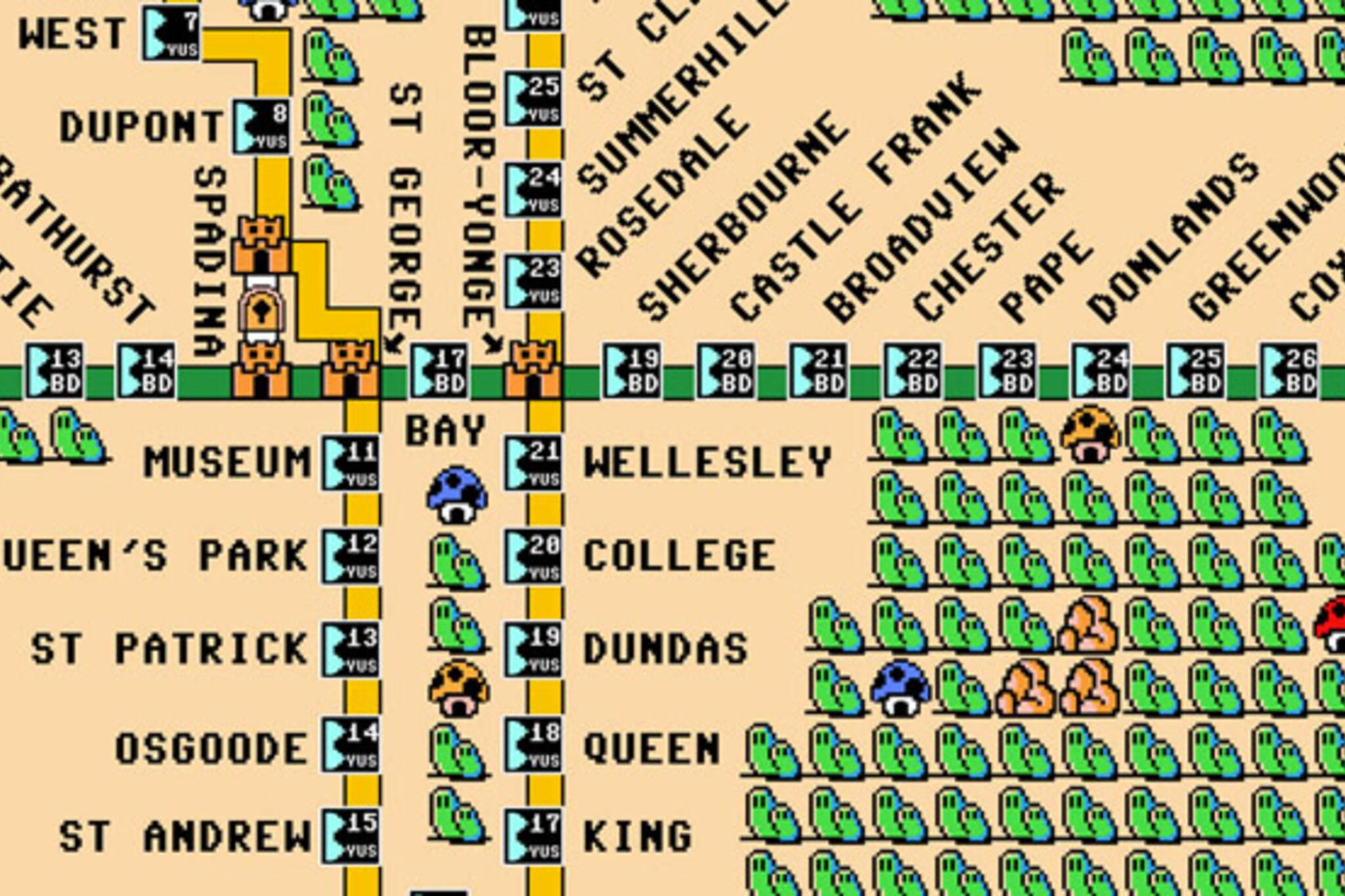 TTC 8-bit map mario bros