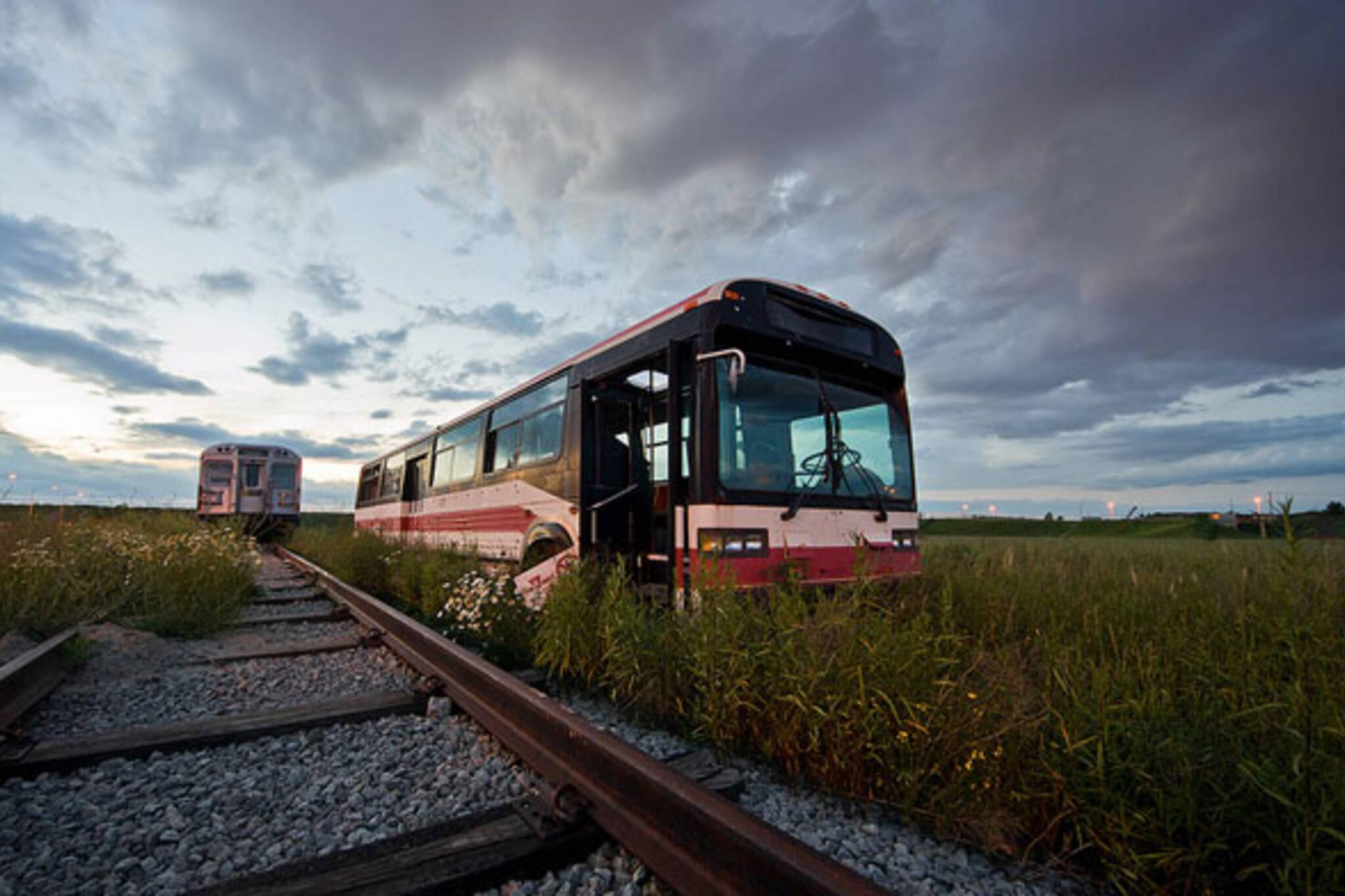 ttc abandoned bus