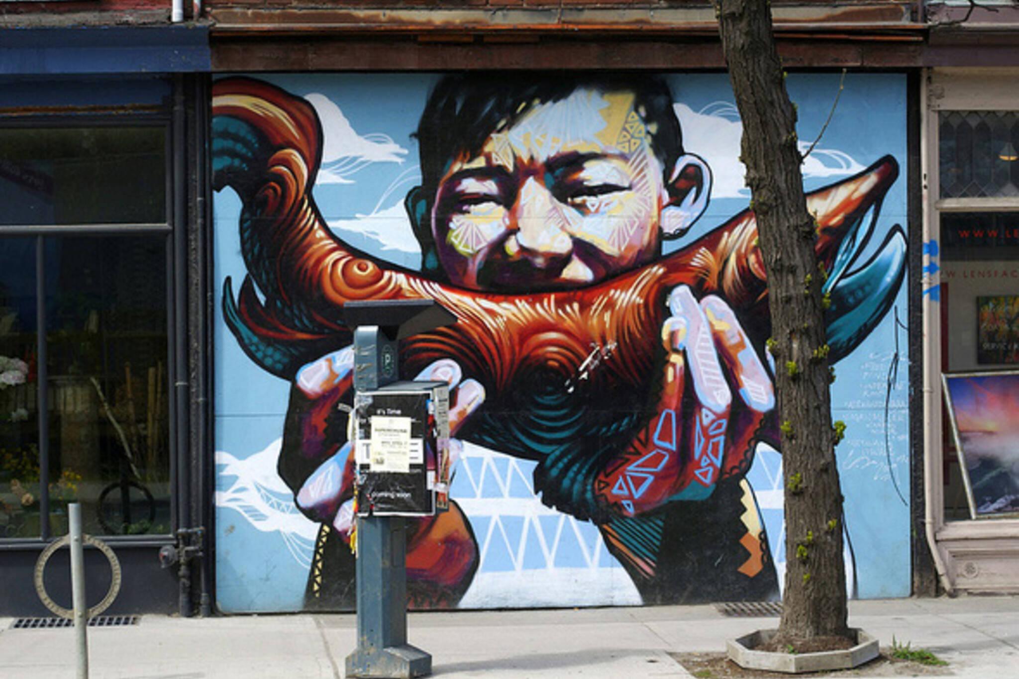 Fish mural West Queen West