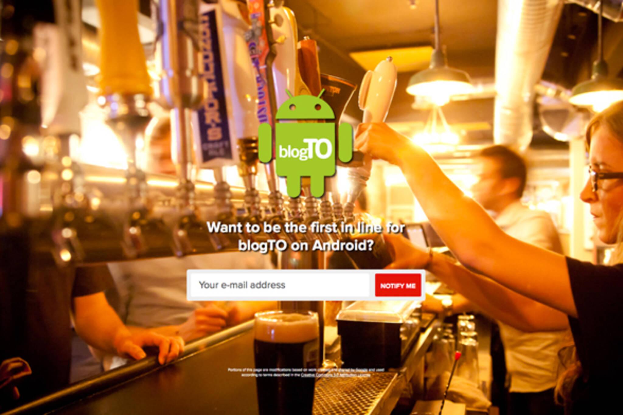 toronto Android app
