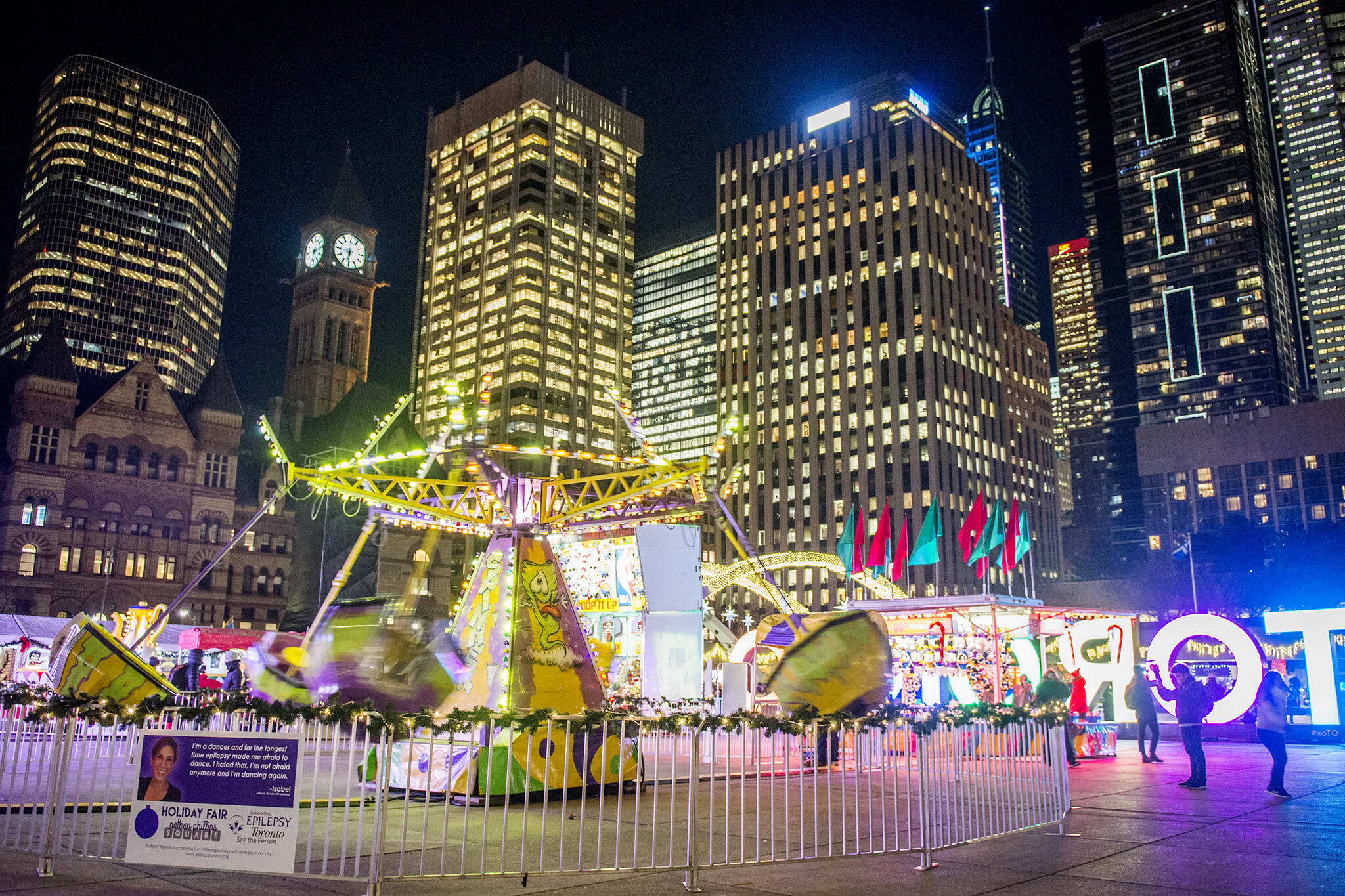 Nathan Phillips square holiday market
