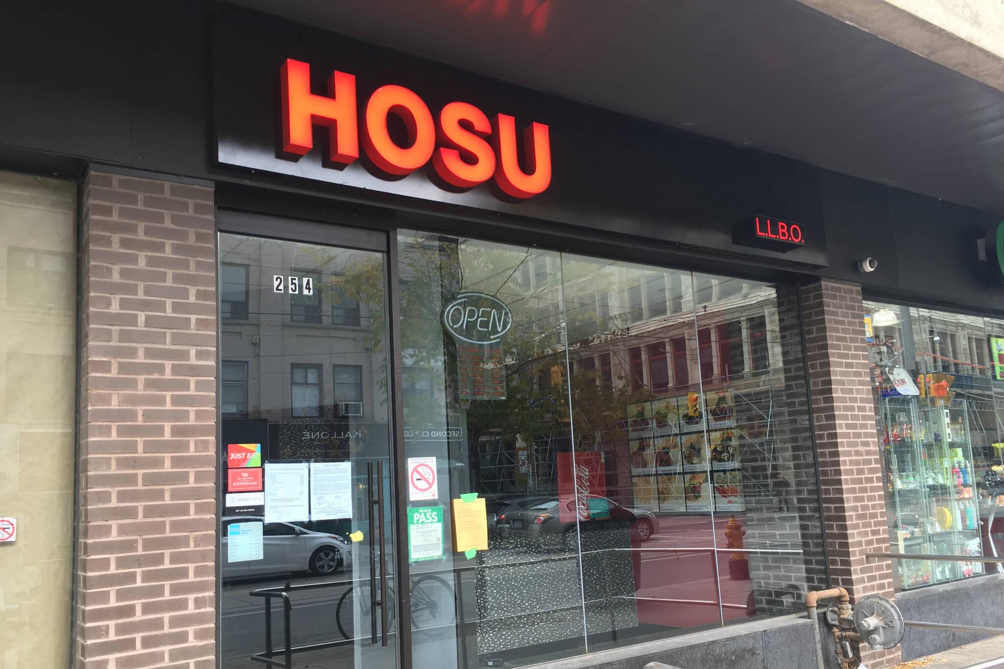 Hosu restaurant closed