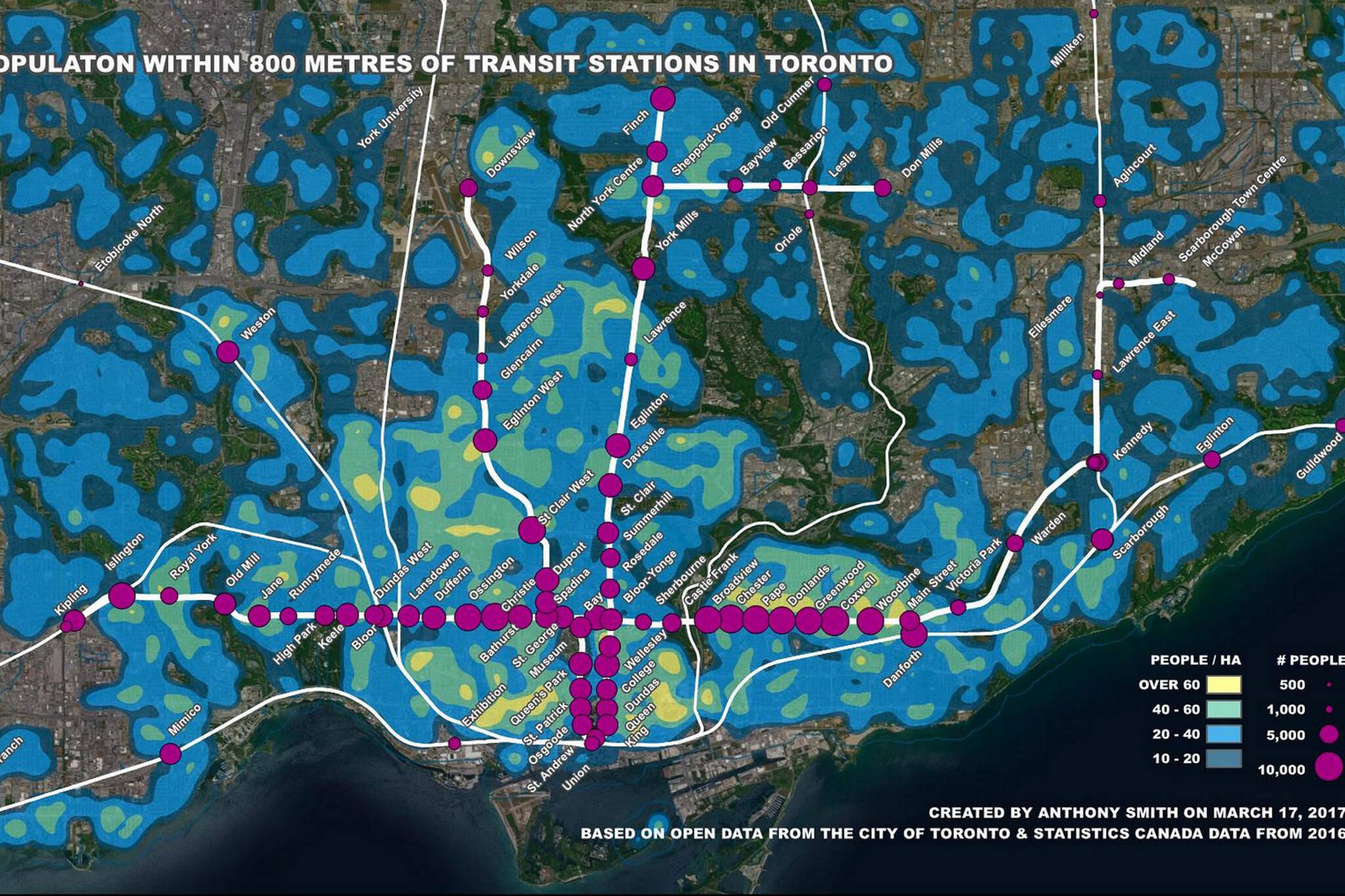 ttc population density map