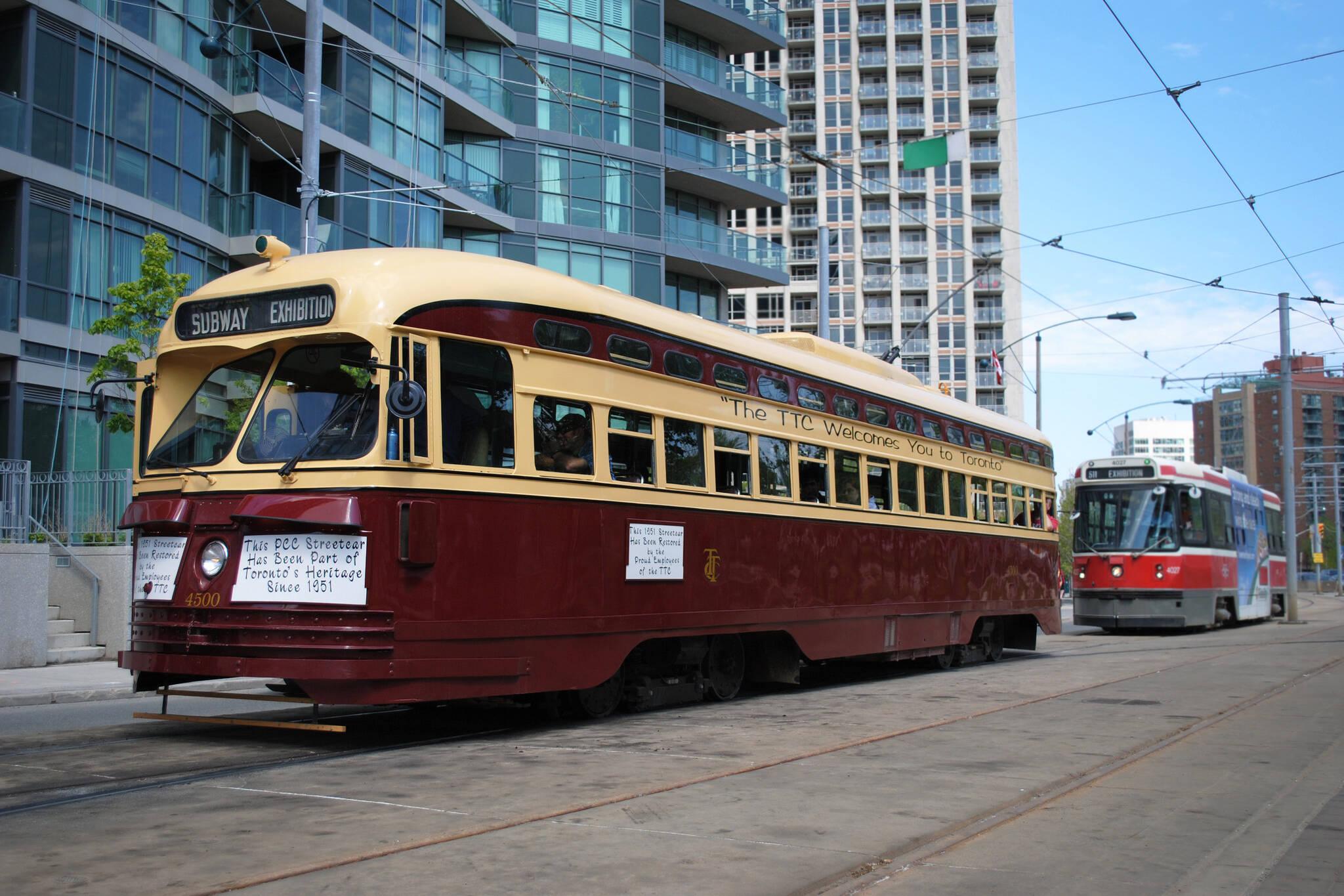 ttc vintage streetcar