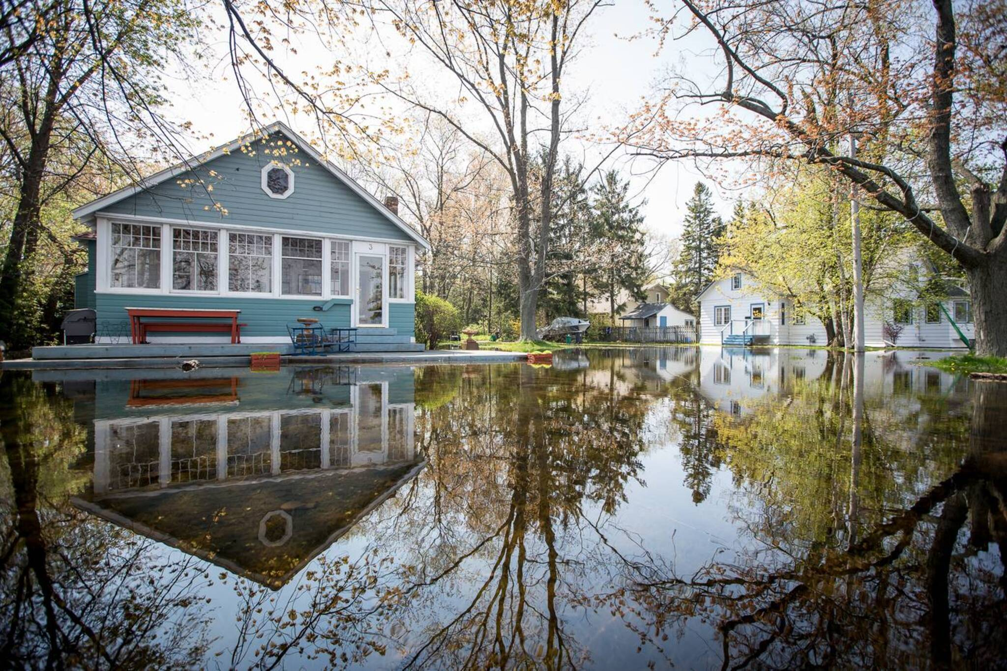 Houses On Toronto Island Flooding