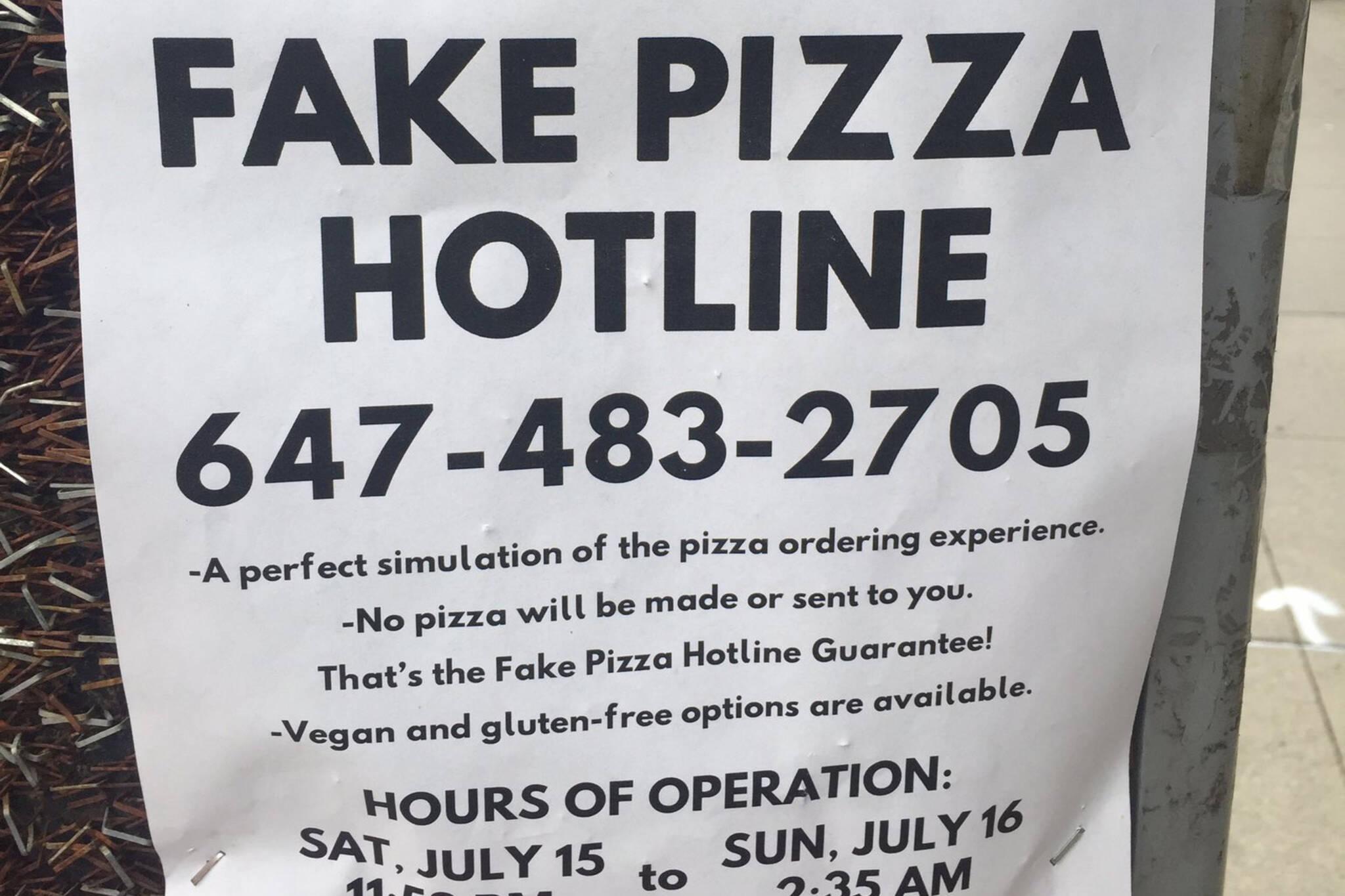 fake pizza toronto