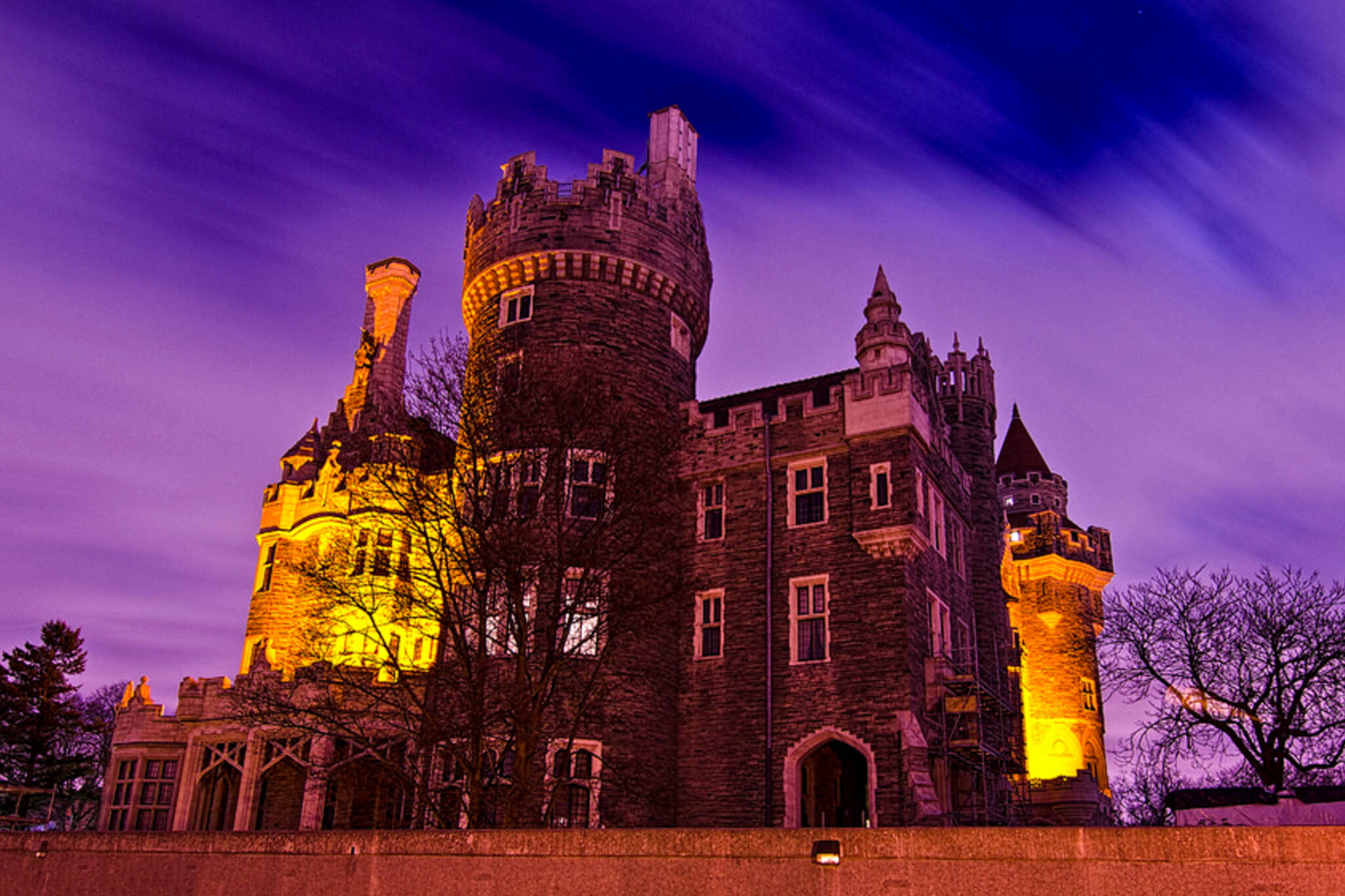 casa loma is about to be transformed into a huge haunted house