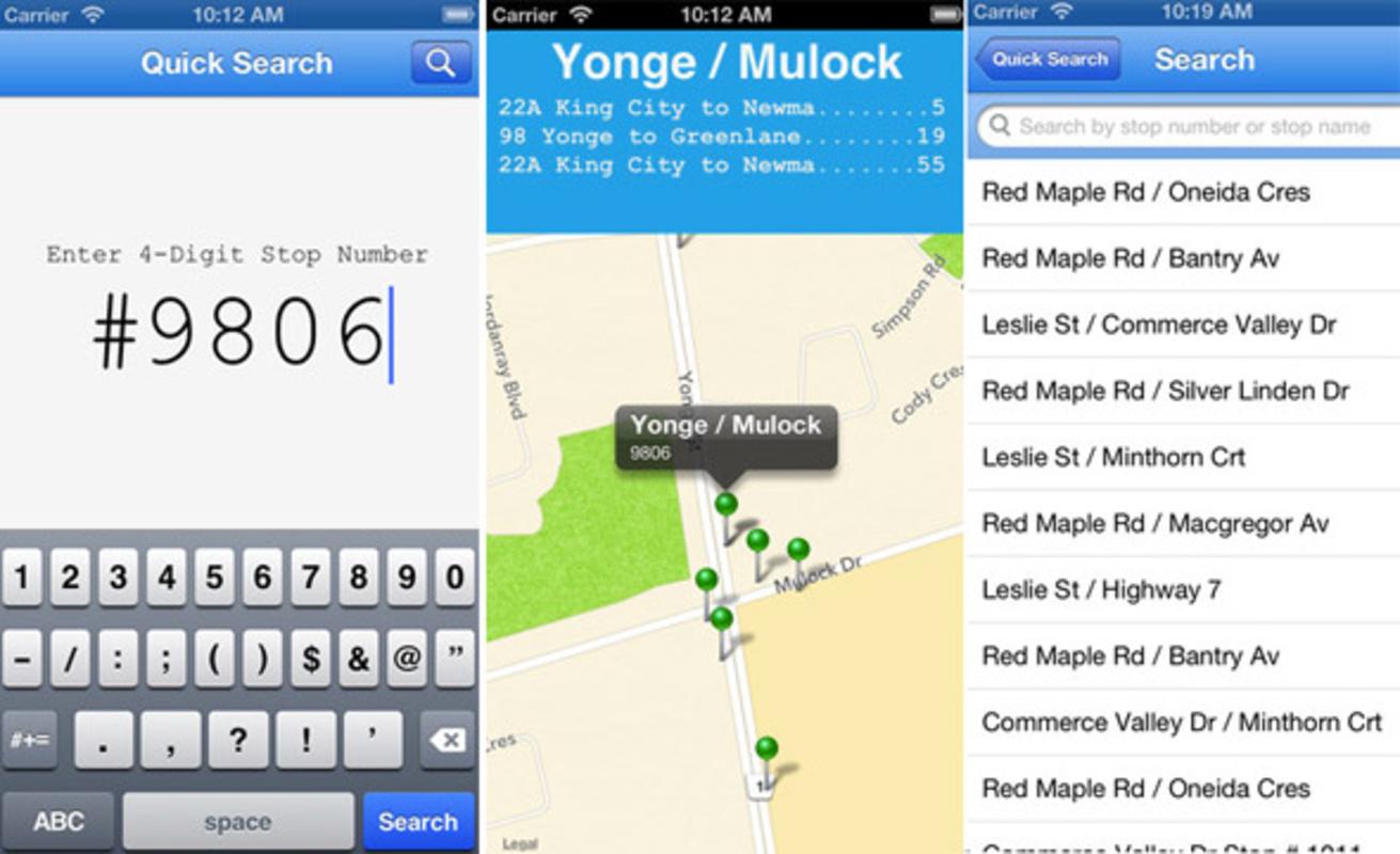 York Region Transit App