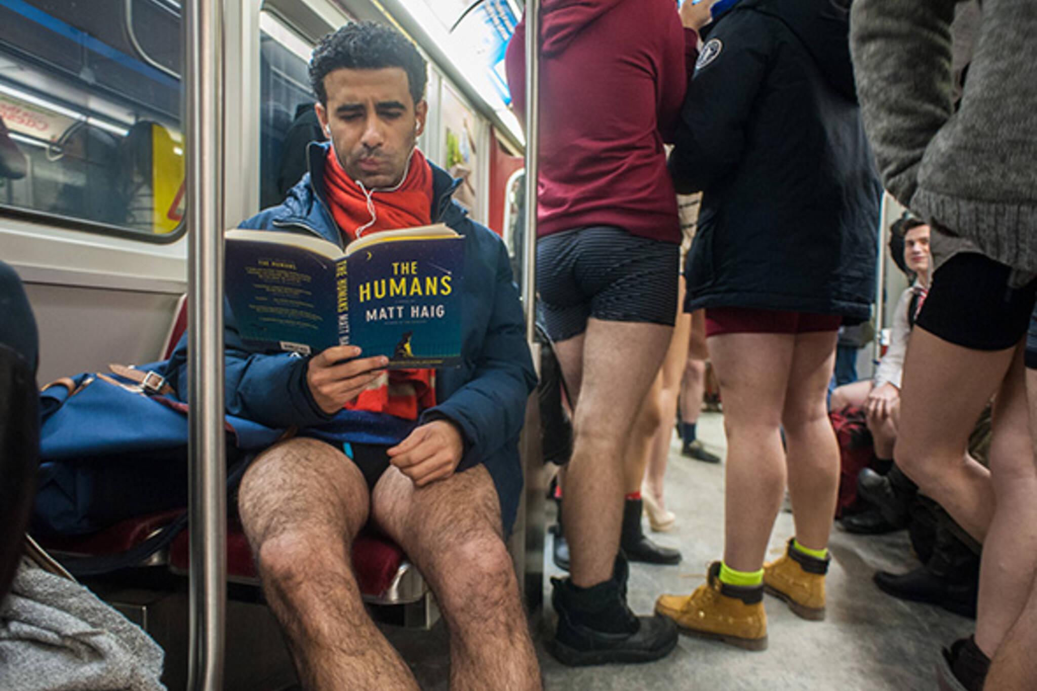 pants free subway ride toronto