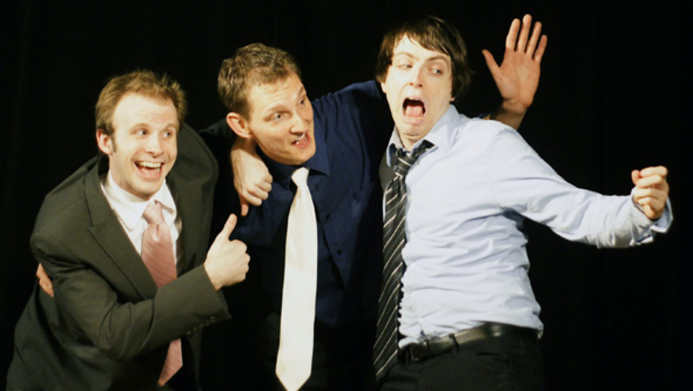 Approximately 3 Peters live on stage at The Bad Dog Theatre in Toronto
