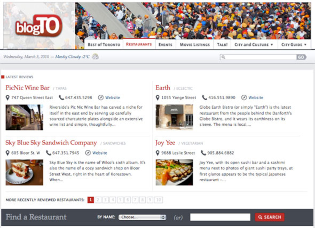 New blogTO Design