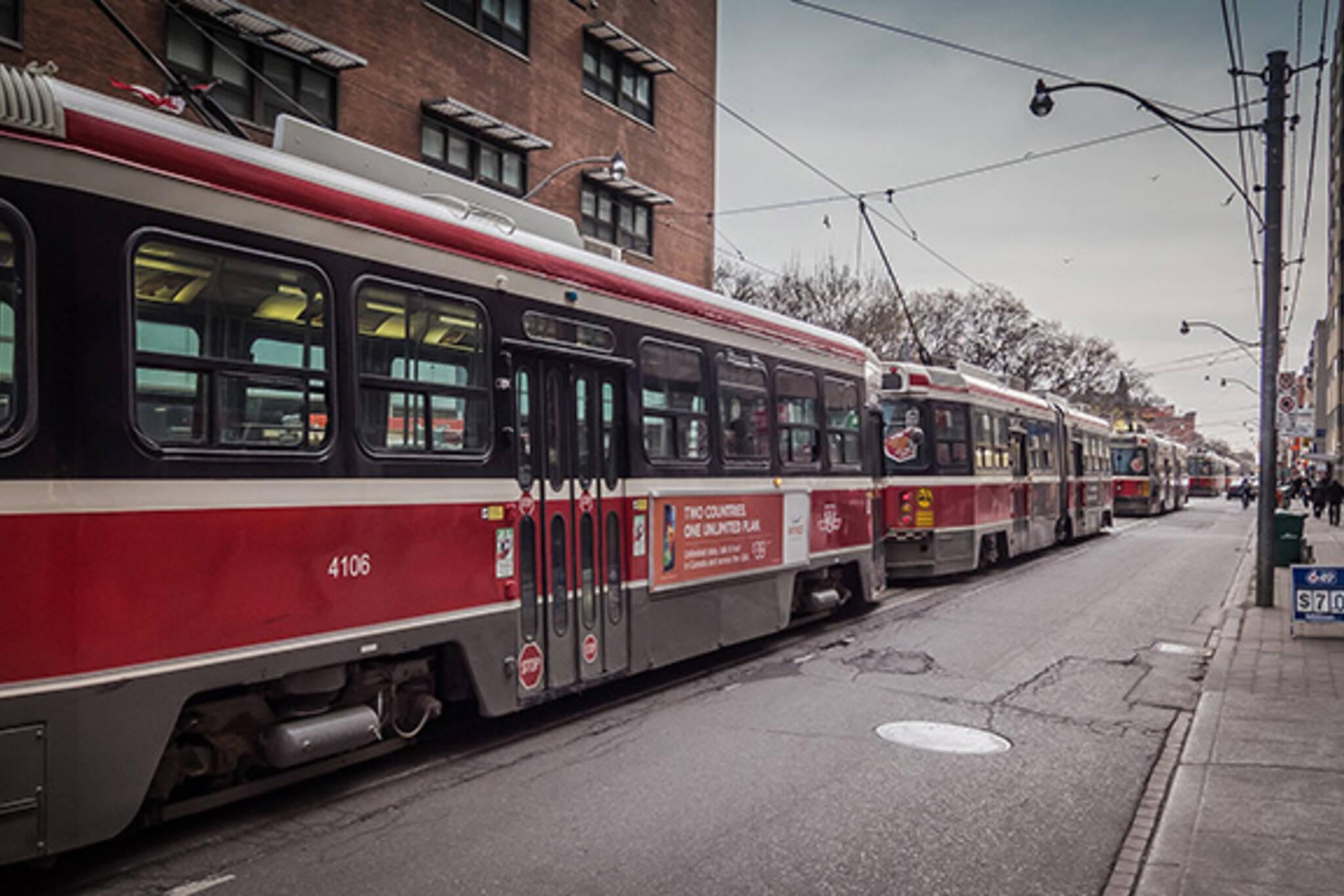 Streetcar backup toronto