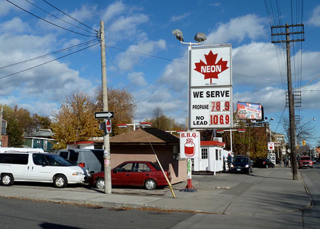 Neon Gas Station Toronto