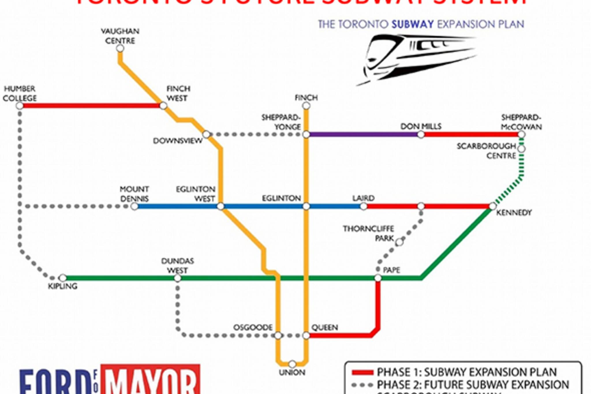 rob ford subway
