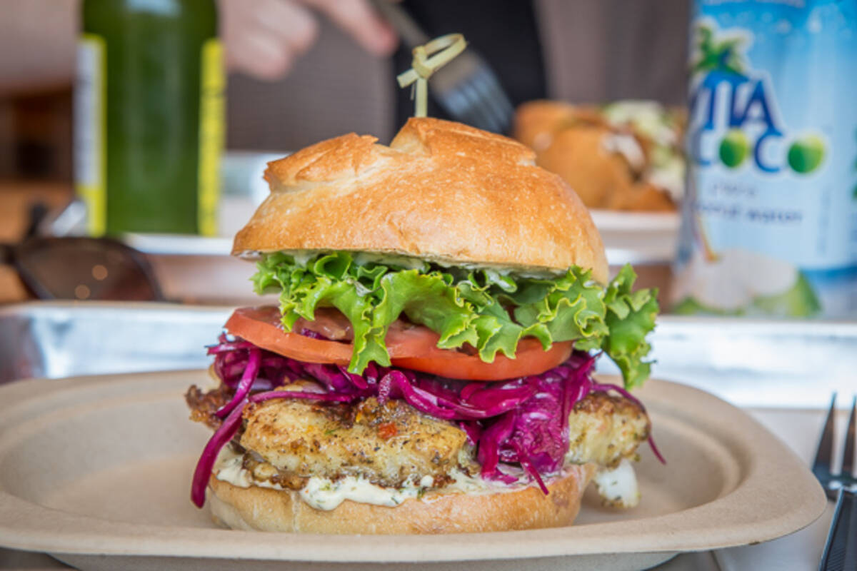 New caribbean restaurant makes a great fish sandwich for Fish sandwich fast food