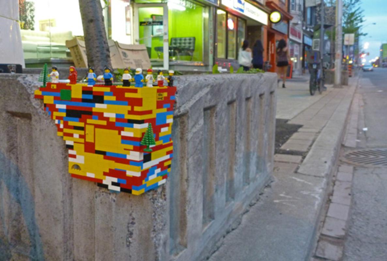 Street art tree planters Toronto