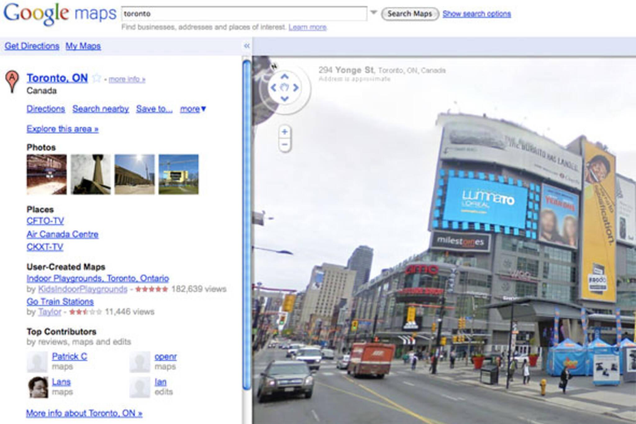 google street view toronto