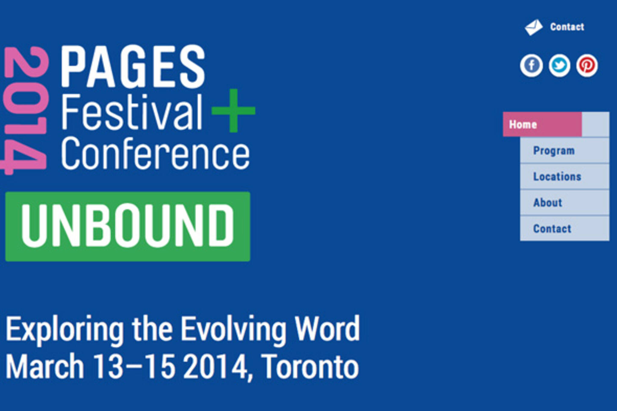 Pages Festival Toronto