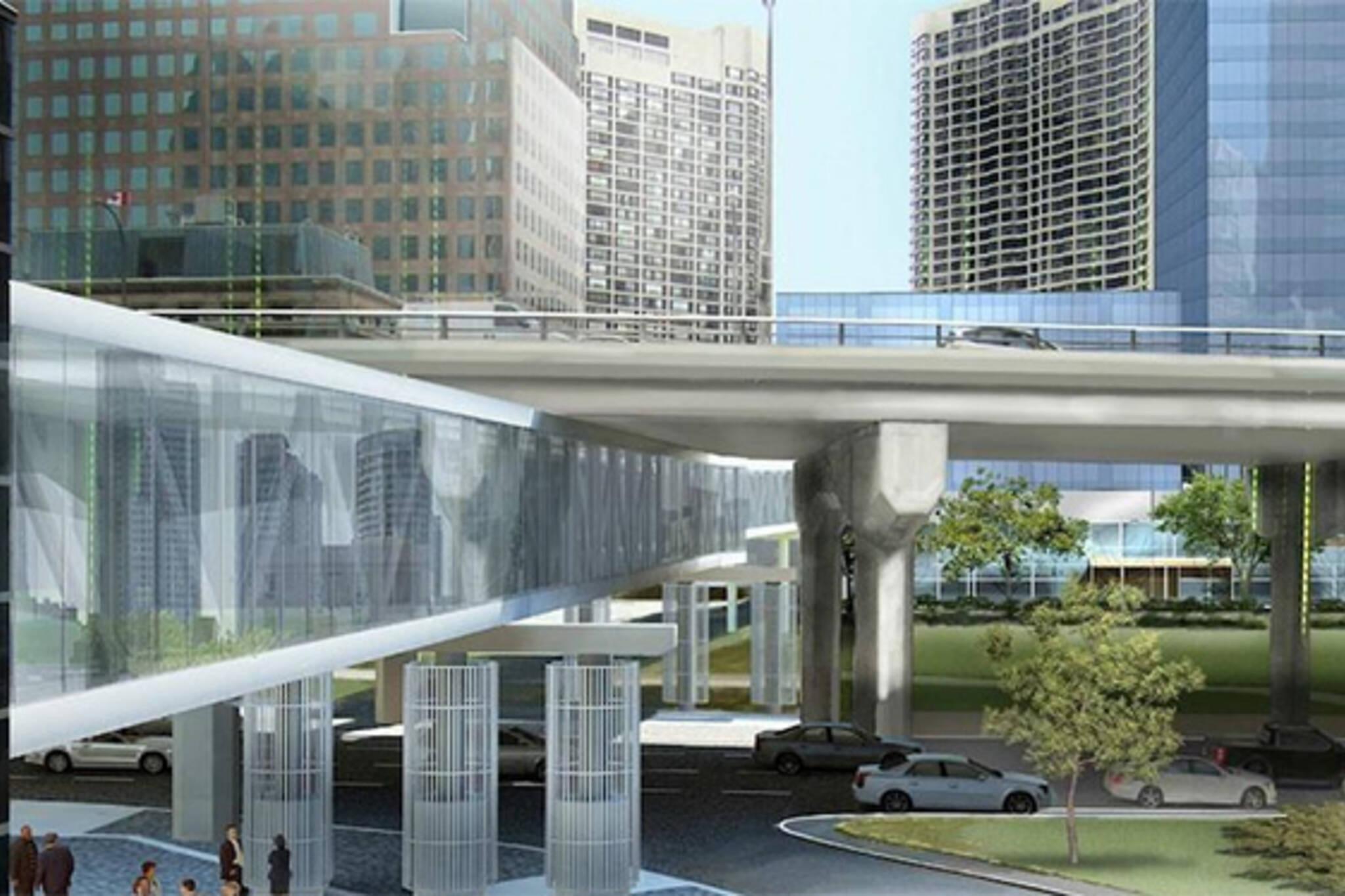 pedestrian bridge PATH Toronto