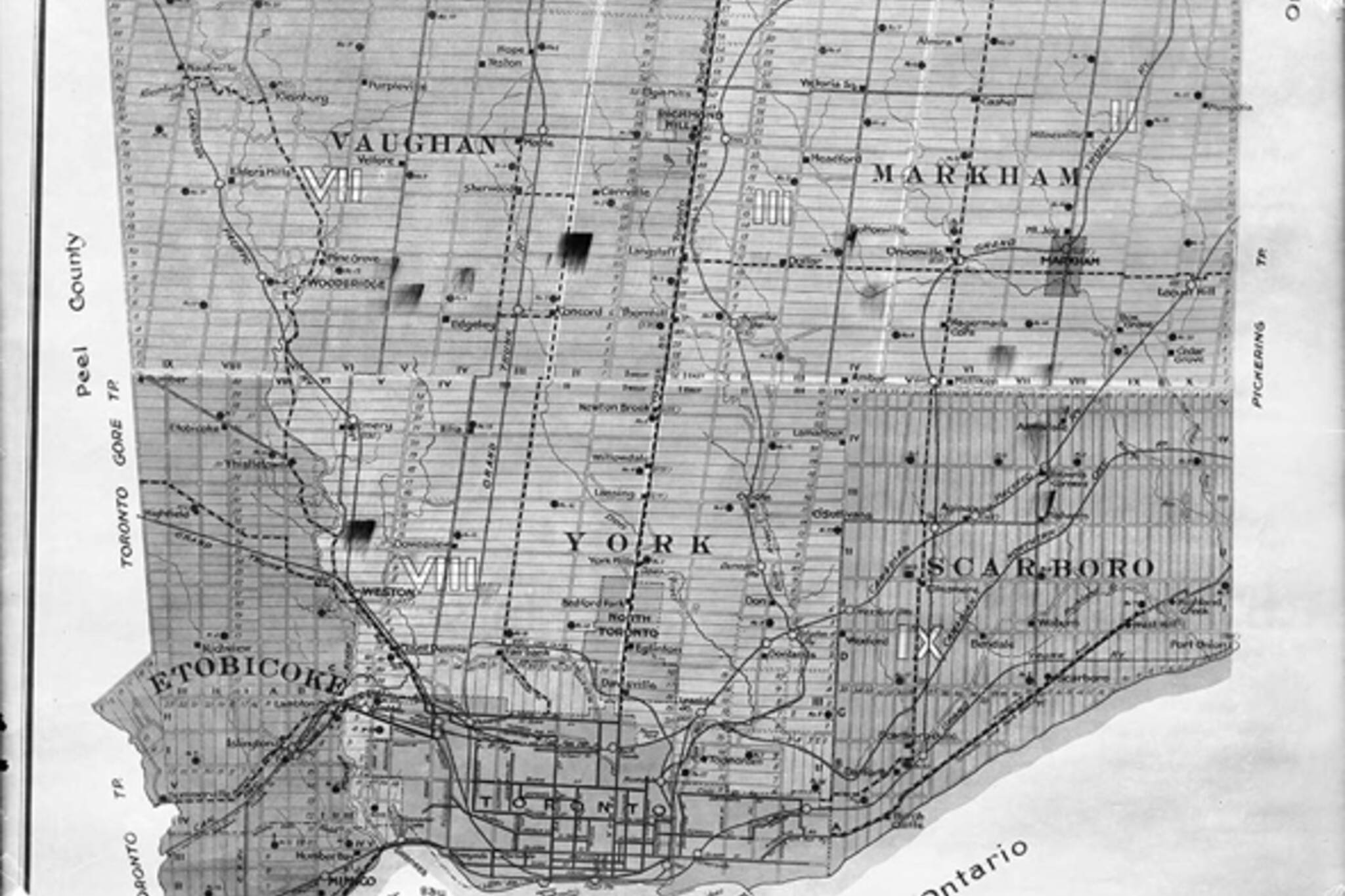Toronto, history, neighbourhoods, Brockton, Ellesmere, Scarborough, postwar, suburbs, York County