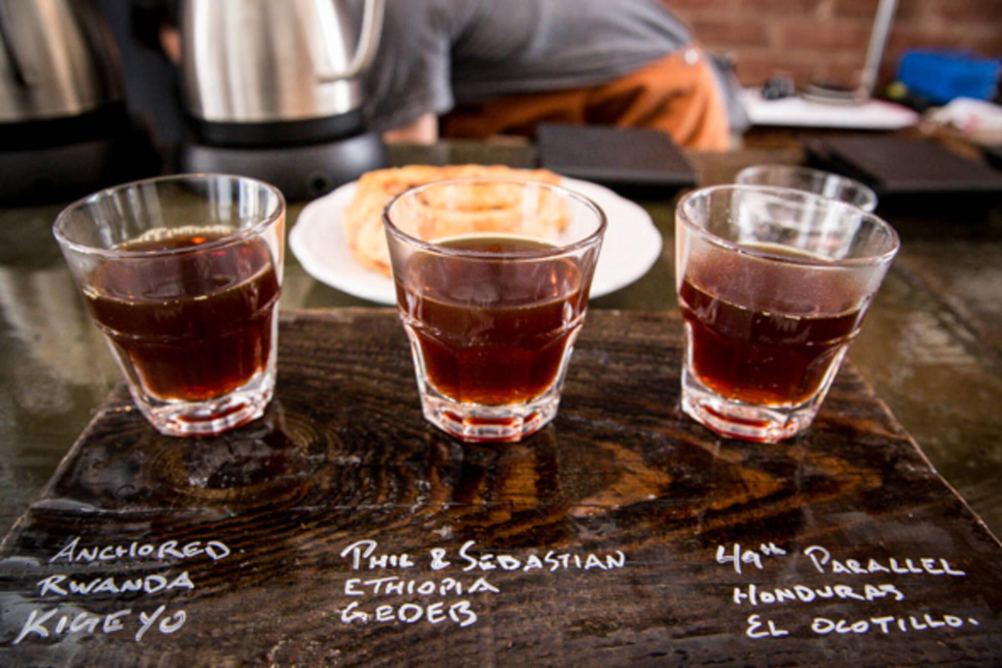 Coffee tasting flights Toronto