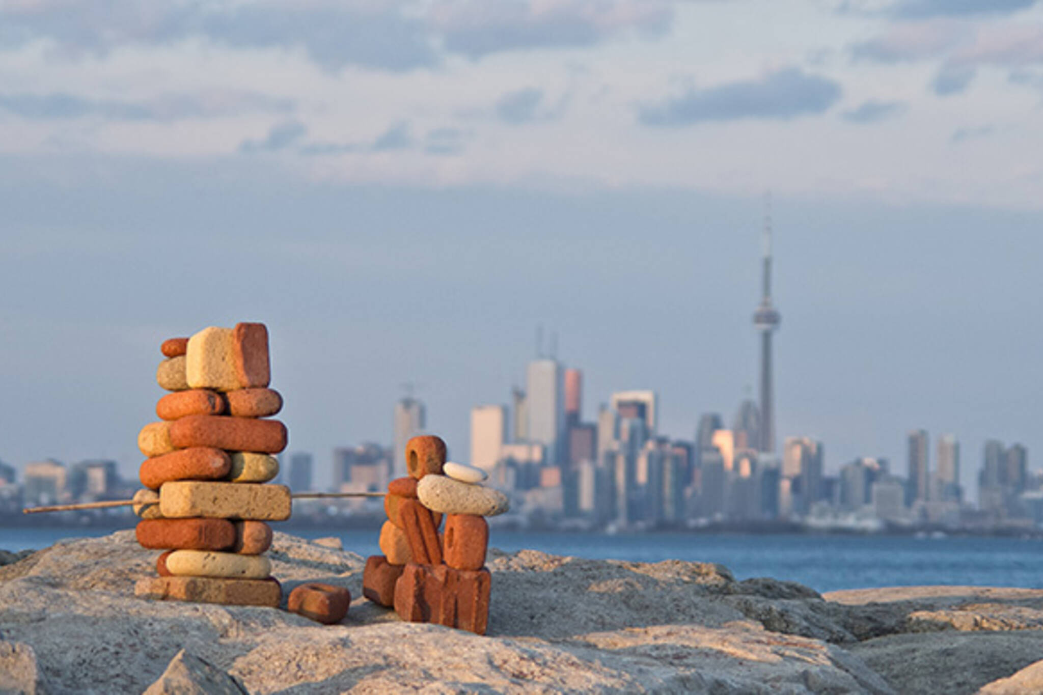 Toronto inukshuk