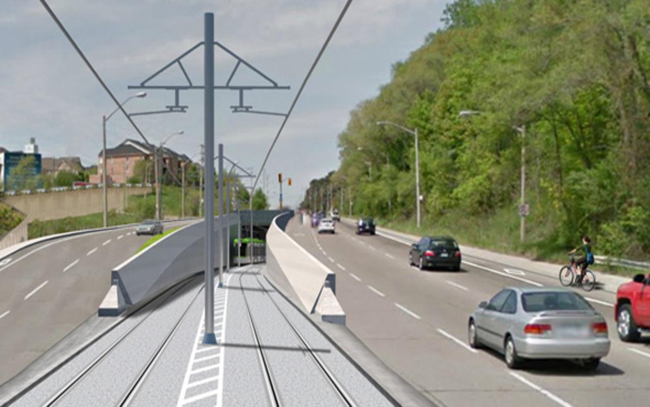 Eglinton Crosstown LRT construction