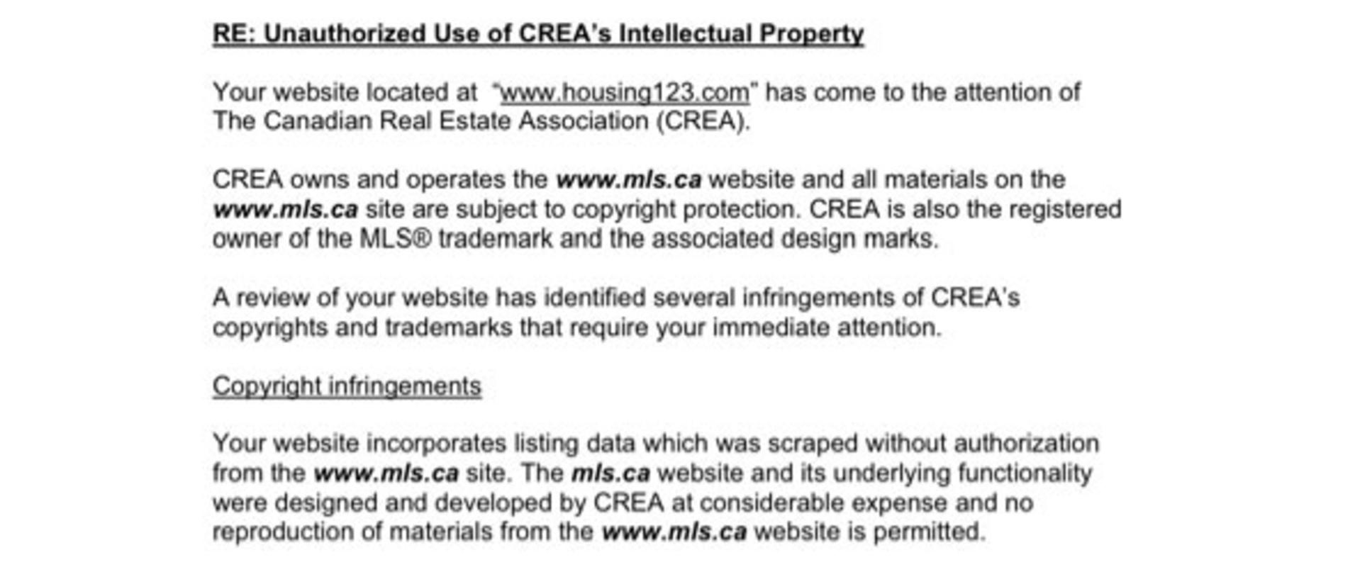 Legal Letter Copyright