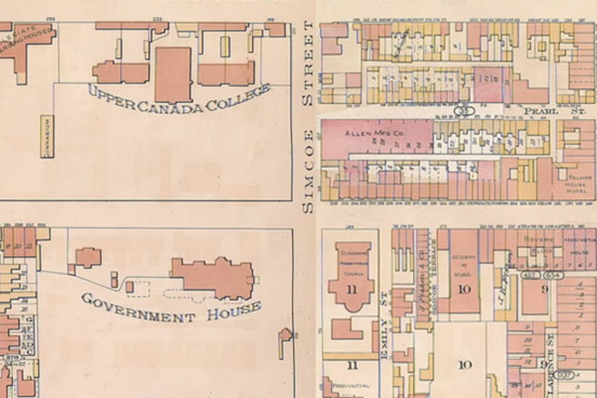 Image result for toronto history image king st w and simcoe st map
