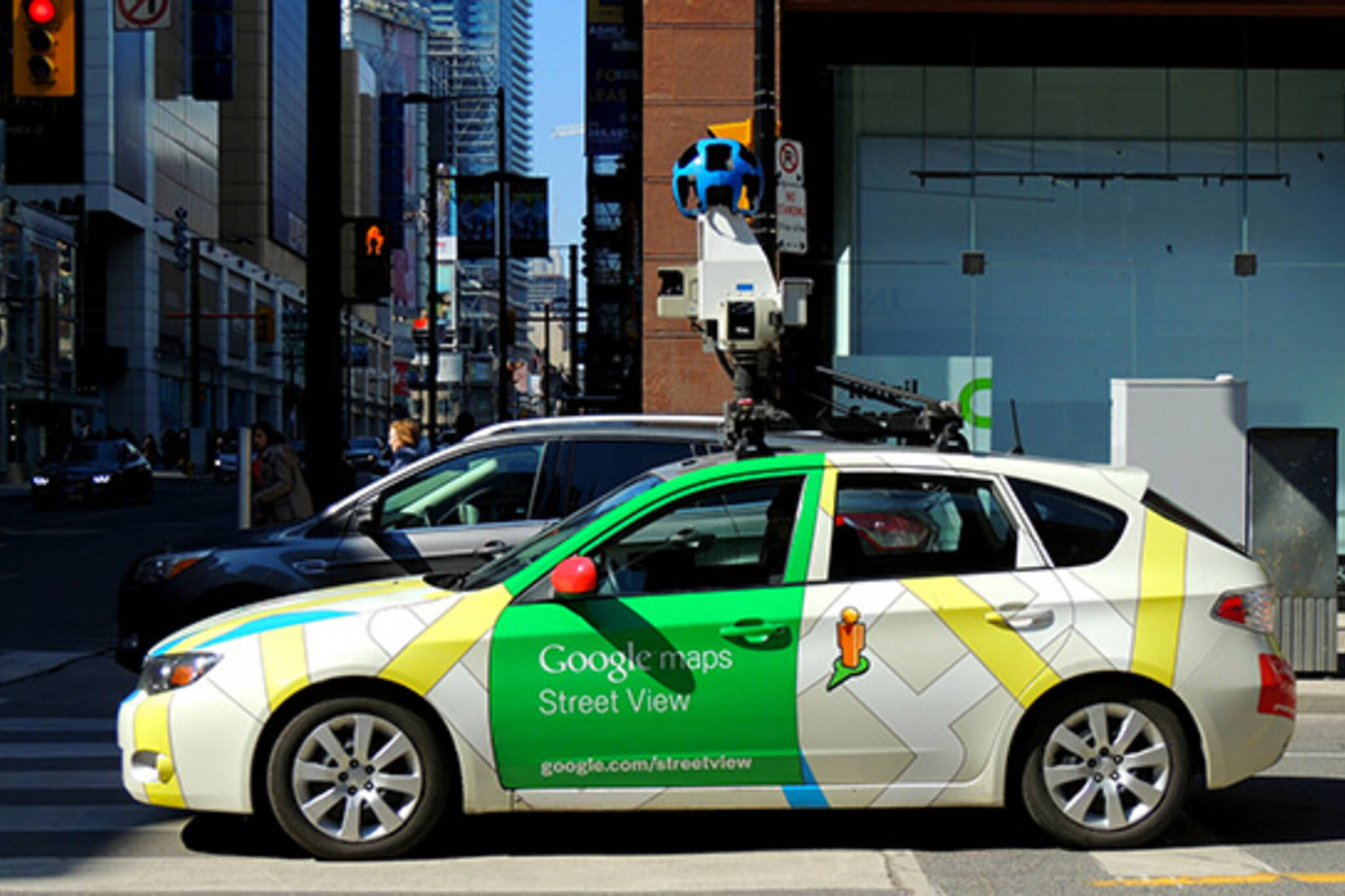 google street view car in toronto. Black Bedroom Furniture Sets. Home Design Ideas