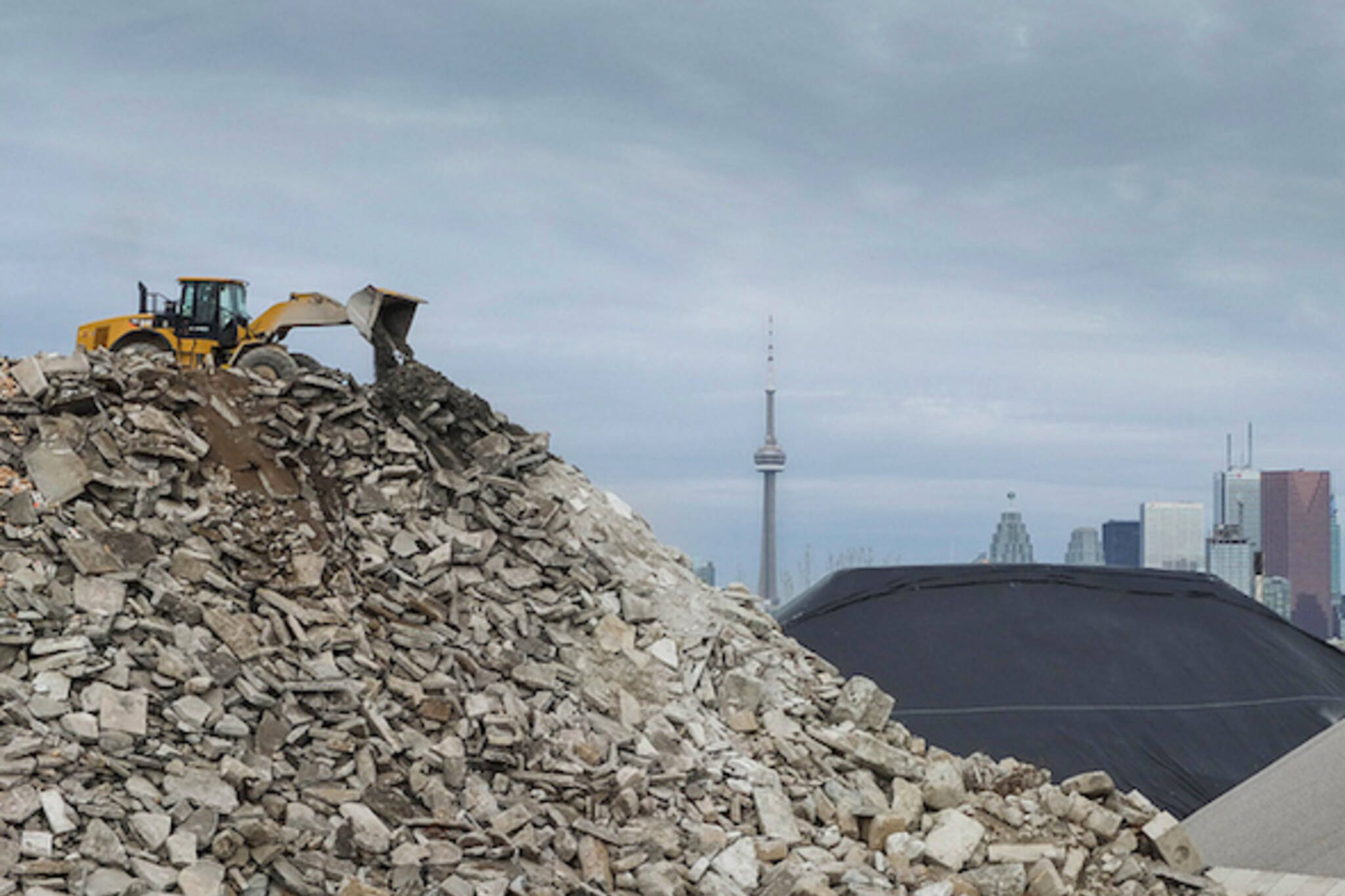 Morning Brew Aggregate Pile Toronto