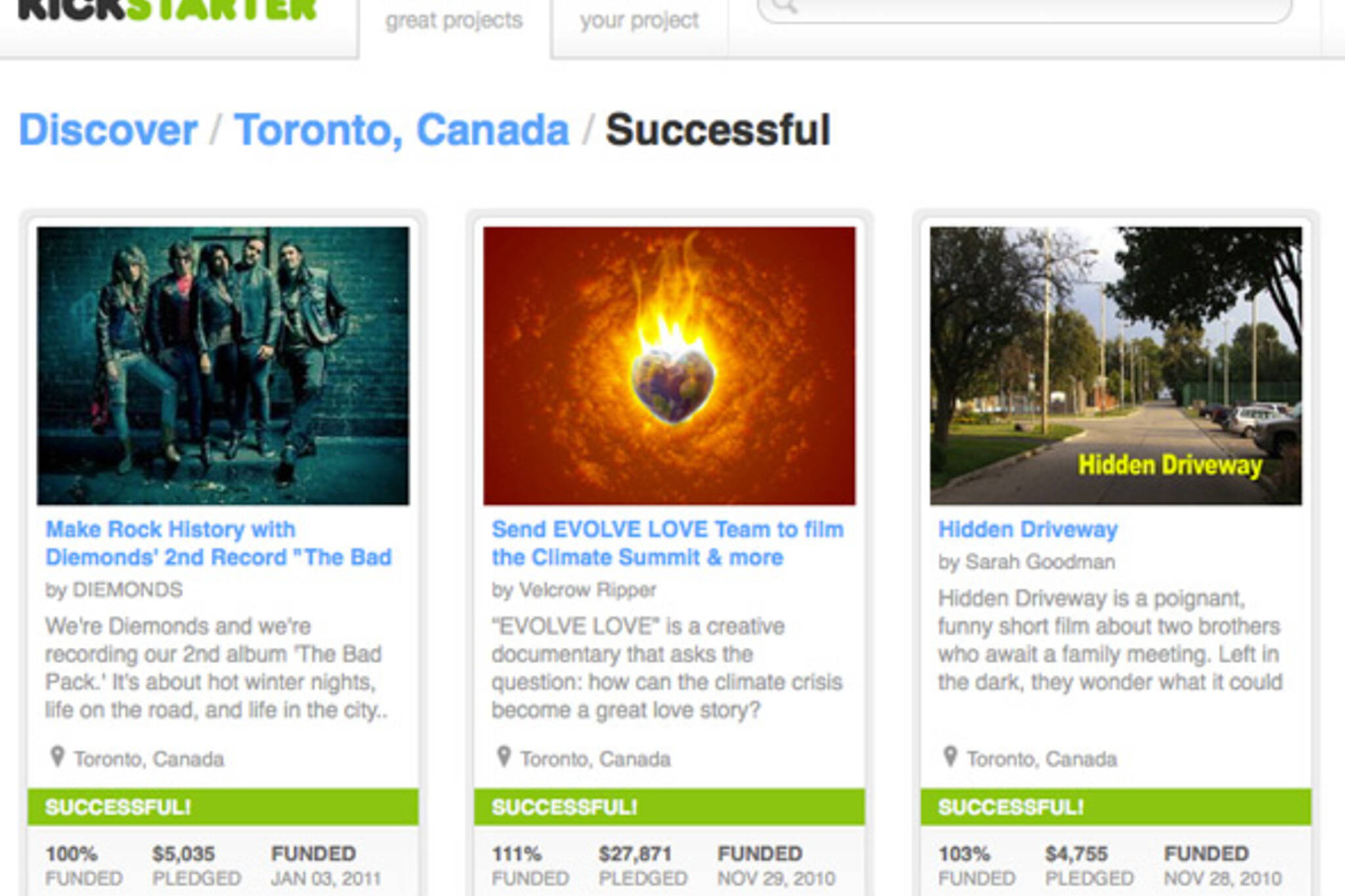 Kickstarter Toronto International