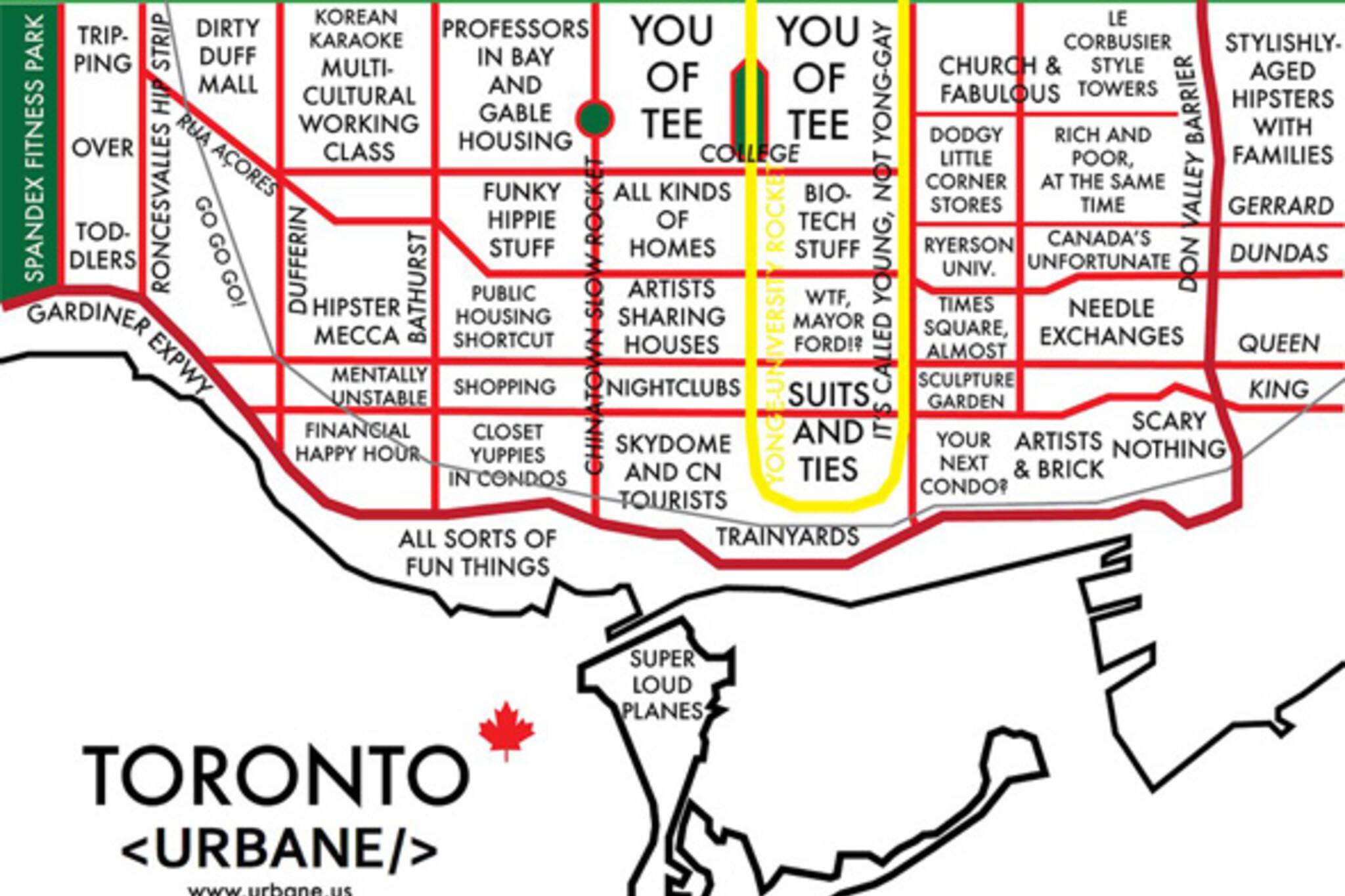 Urbane Map Toronto