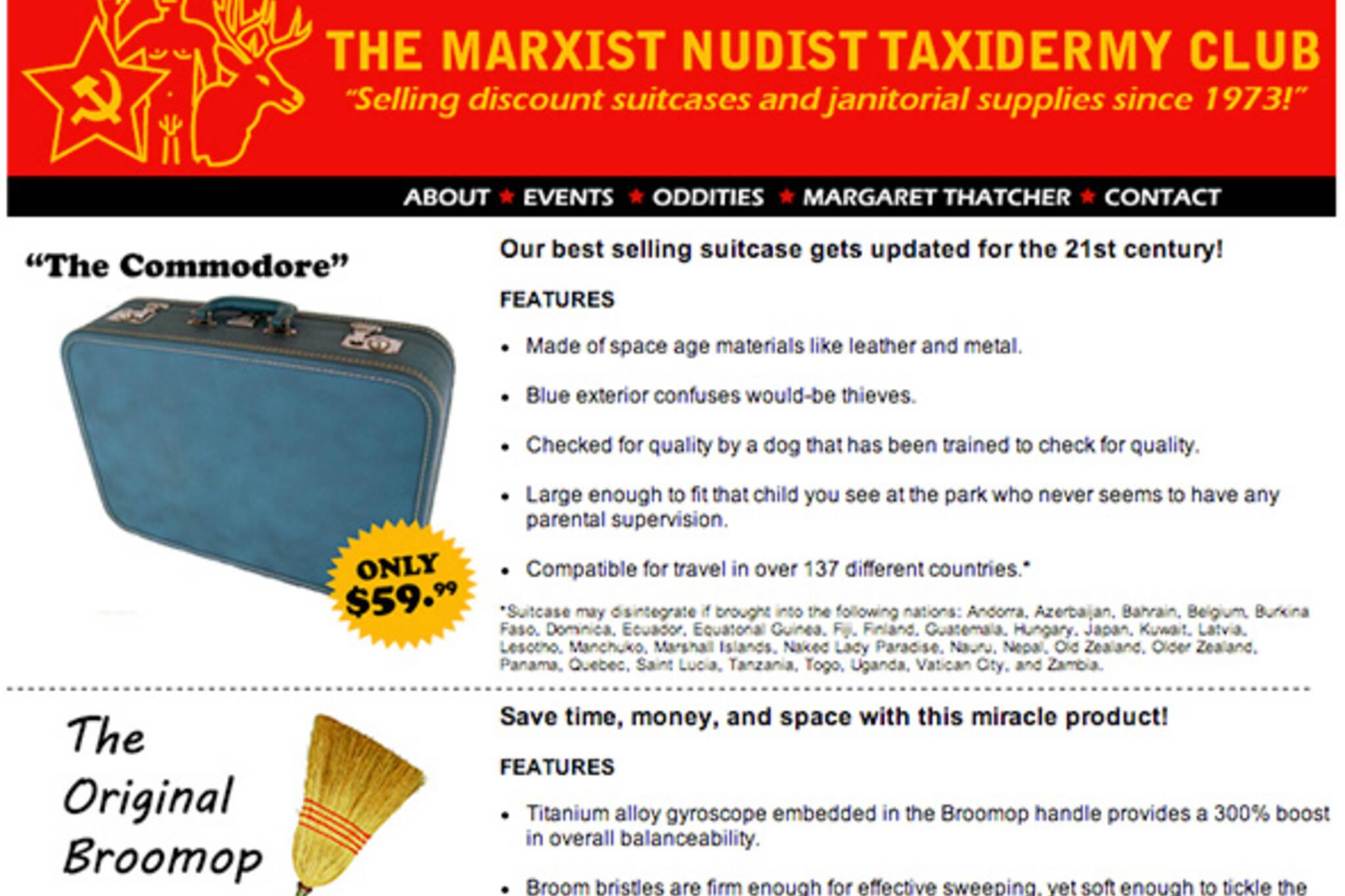 Nudist Marxist Taxidermy Club