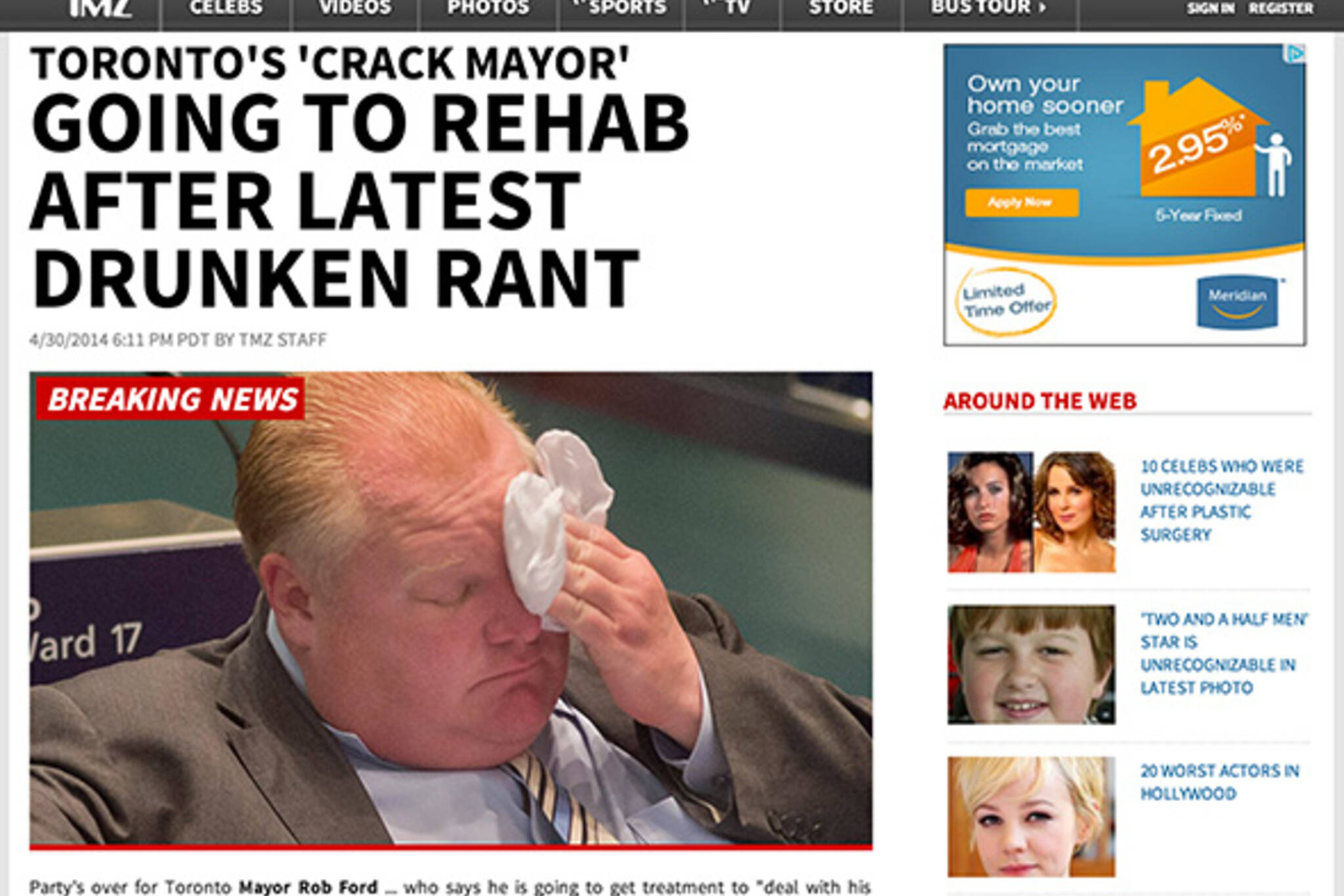 Rob Ford News International Headlines