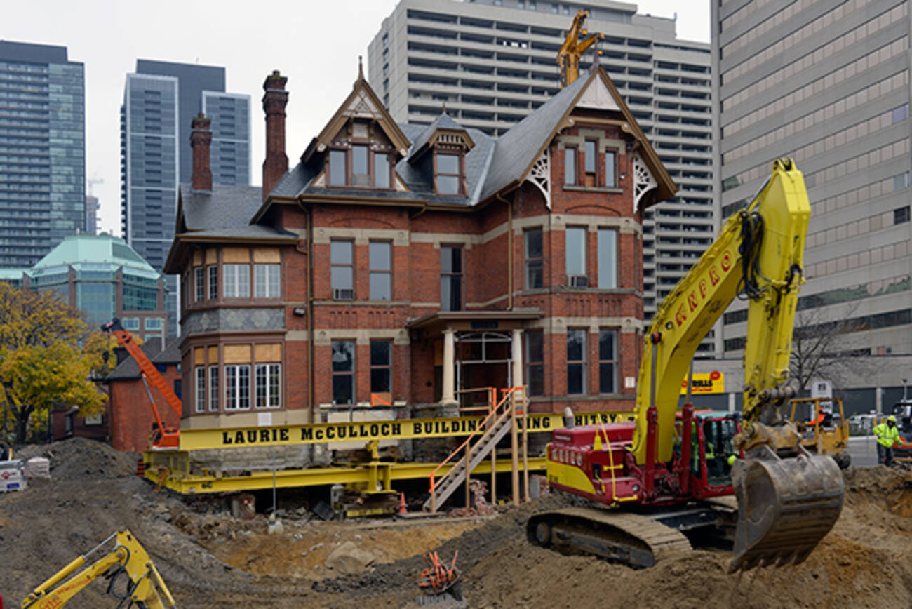 Historic Toronto mansion is on the move