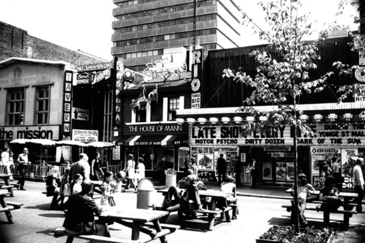 Yonge Street Pedestrian Mall 1970s