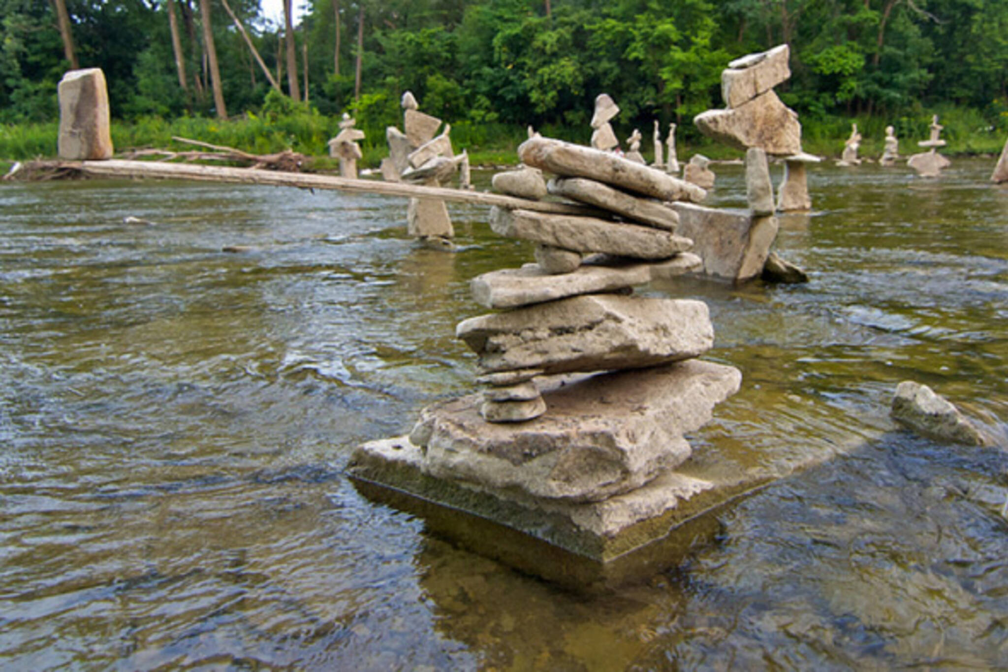 humber river rock sculptures