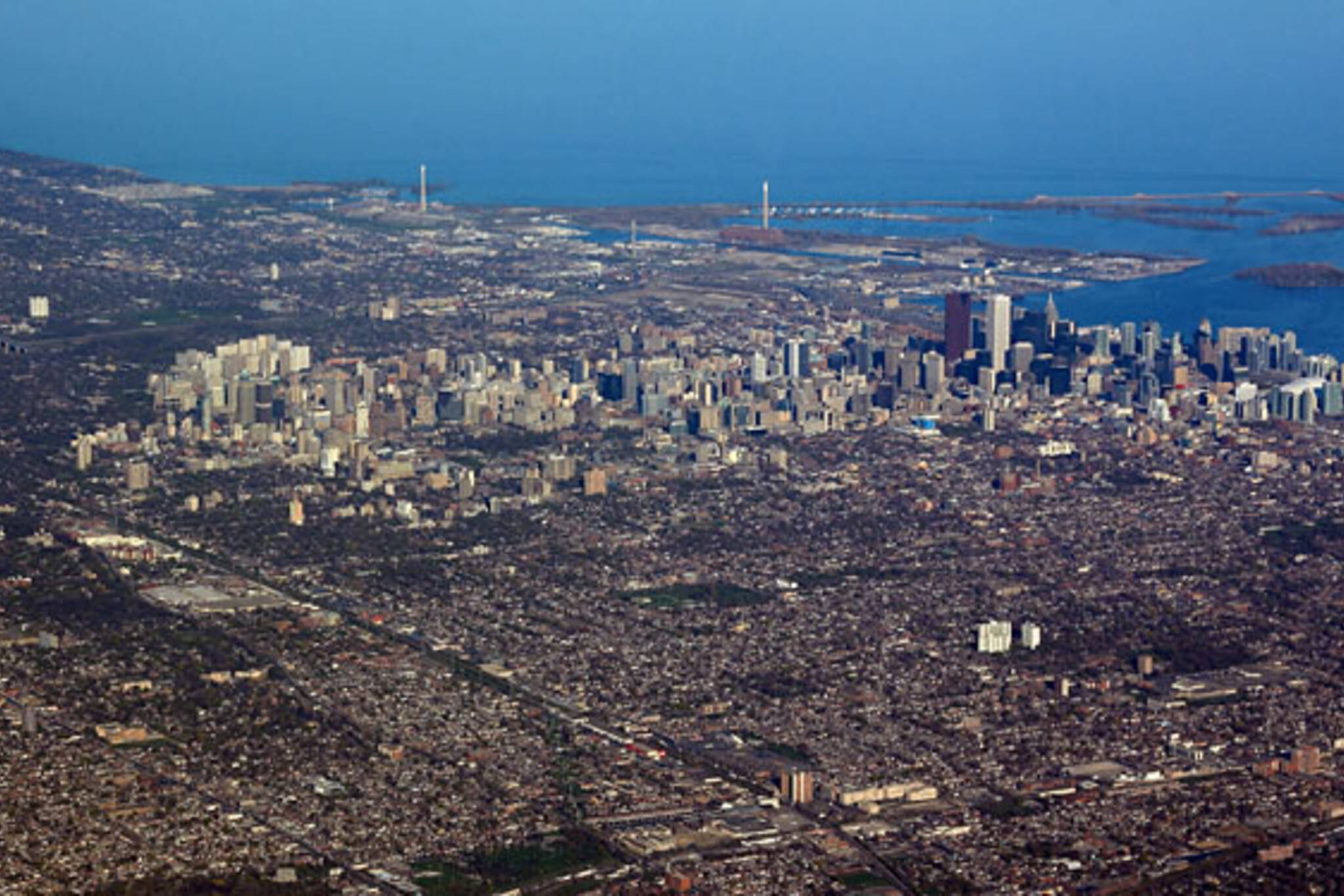 Cn Tower-less Toronto Aerial