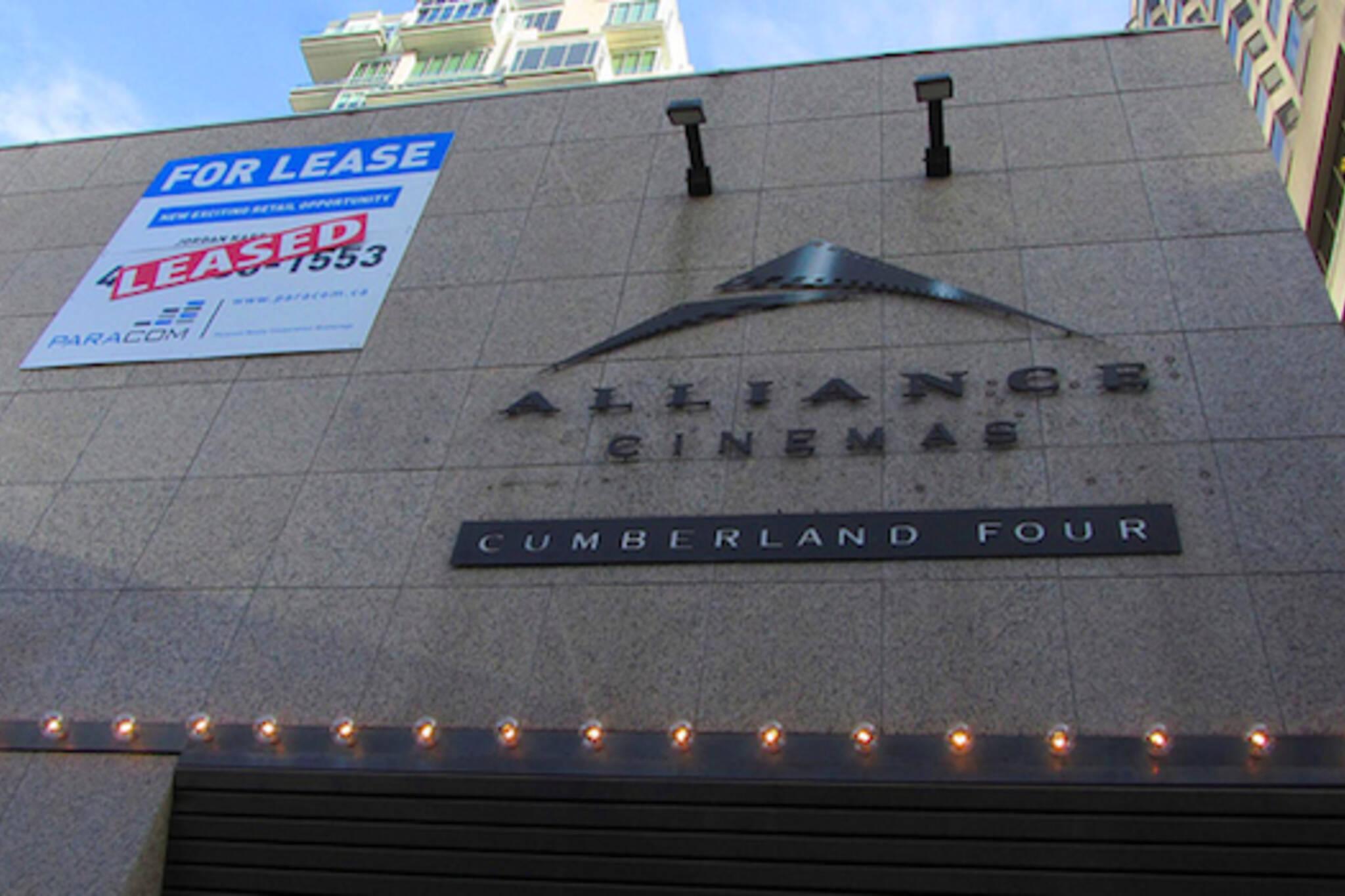 Cumberland Cinema Facade Leased